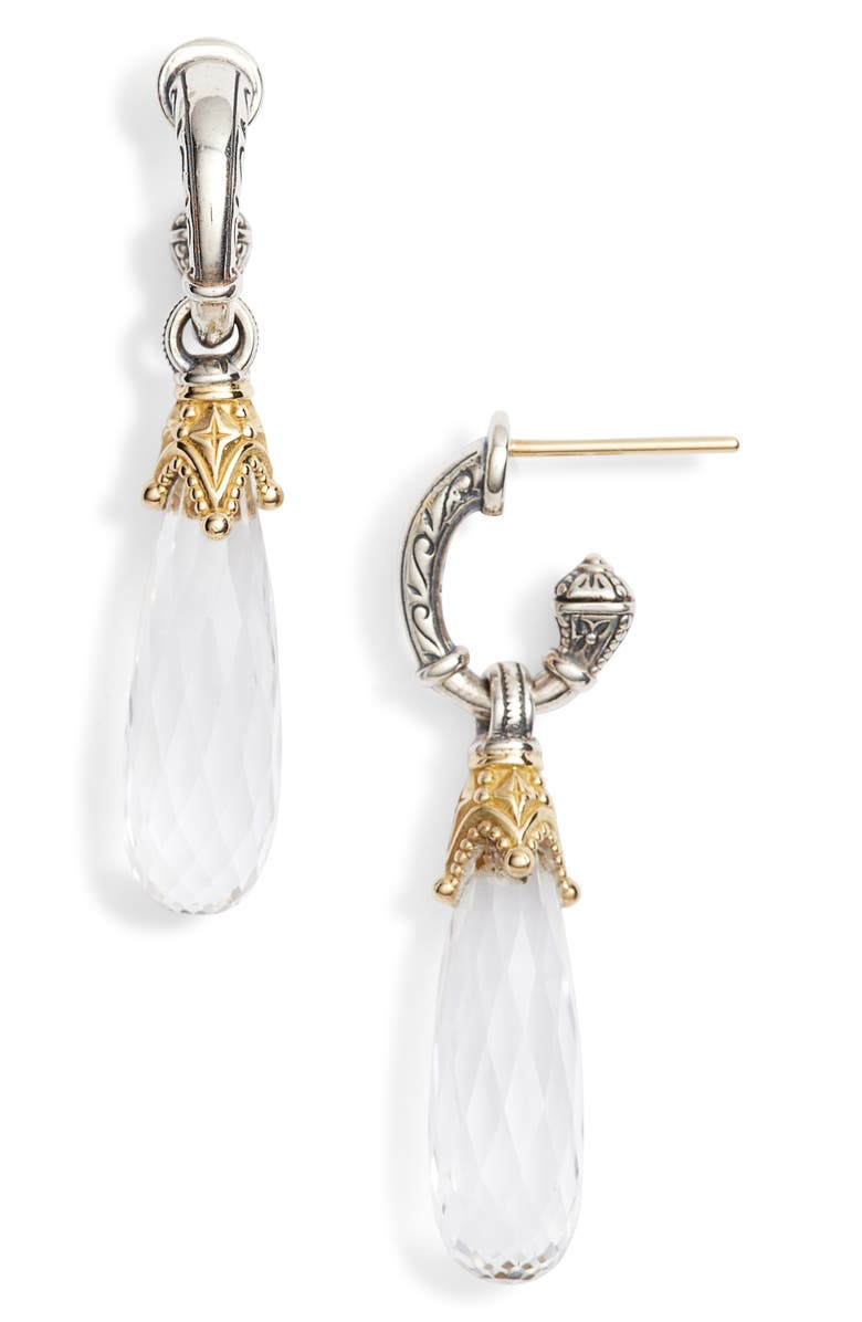 Konstantino PYTHIA CRYSTAL DROP EARRINGS