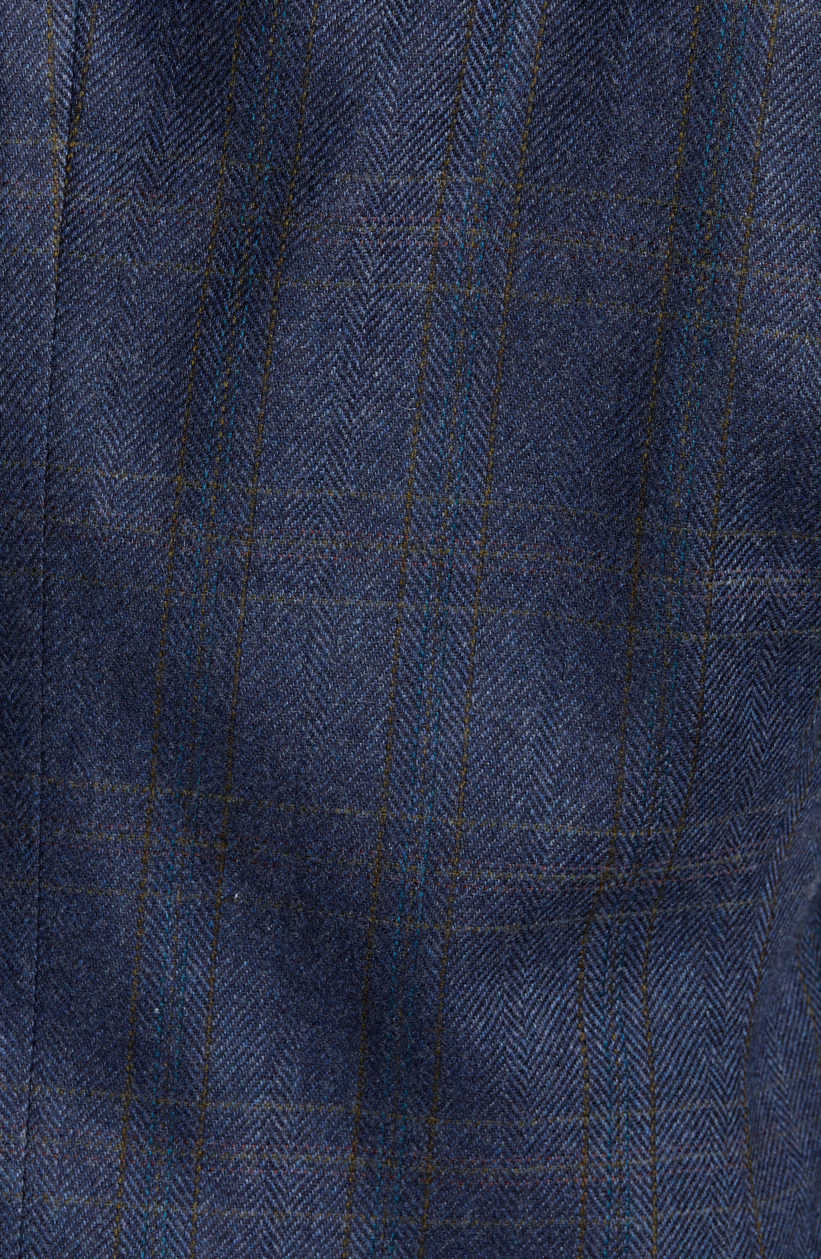 'Clareinch' Herringbone Plaid Sport Coat,                             Alternate thumbnail 6, color,                             412