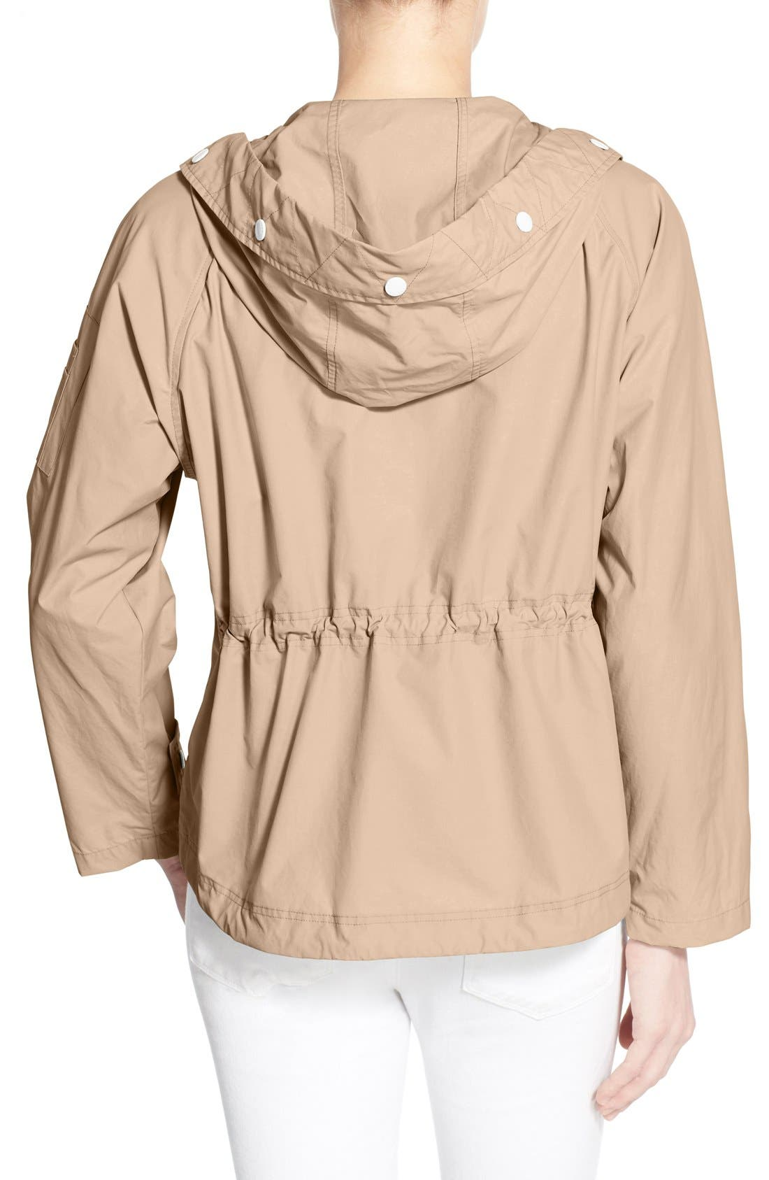 Sporty Hooded Jacket,                             Alternate thumbnail 2, color,                             CANYON ROSE