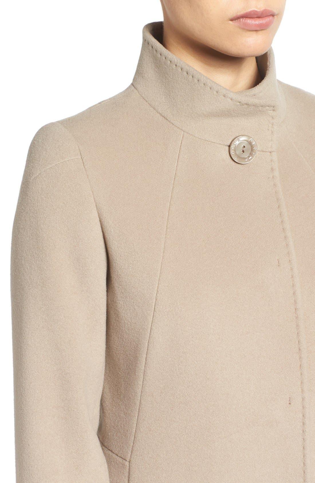 Cinzia Rocca Stand Collar Walking Coat,                             Alternate thumbnail 8, color,