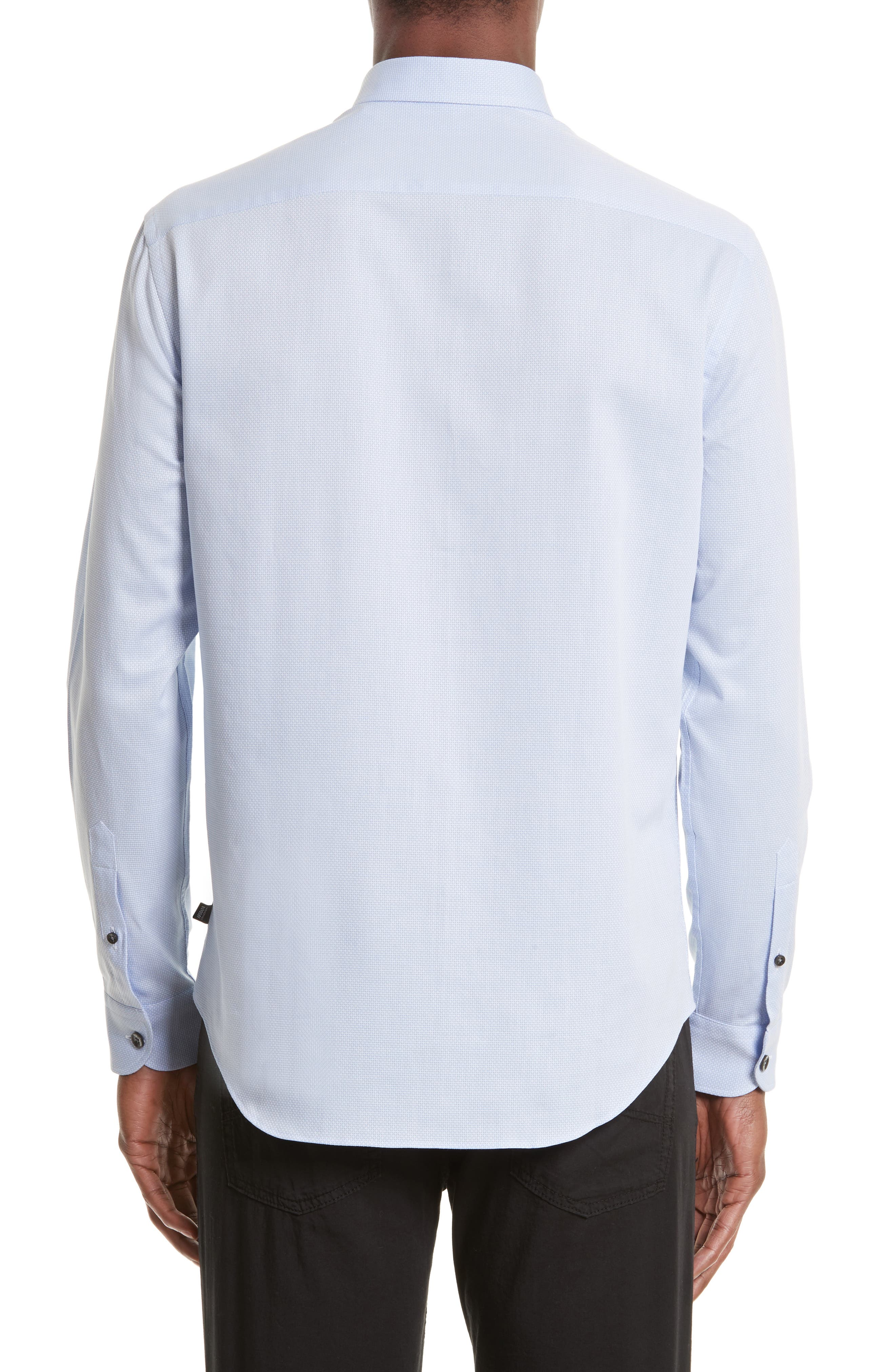 Geometric Neat Jacquard Sport Shirt,                             Alternate thumbnail 2, color,                             491