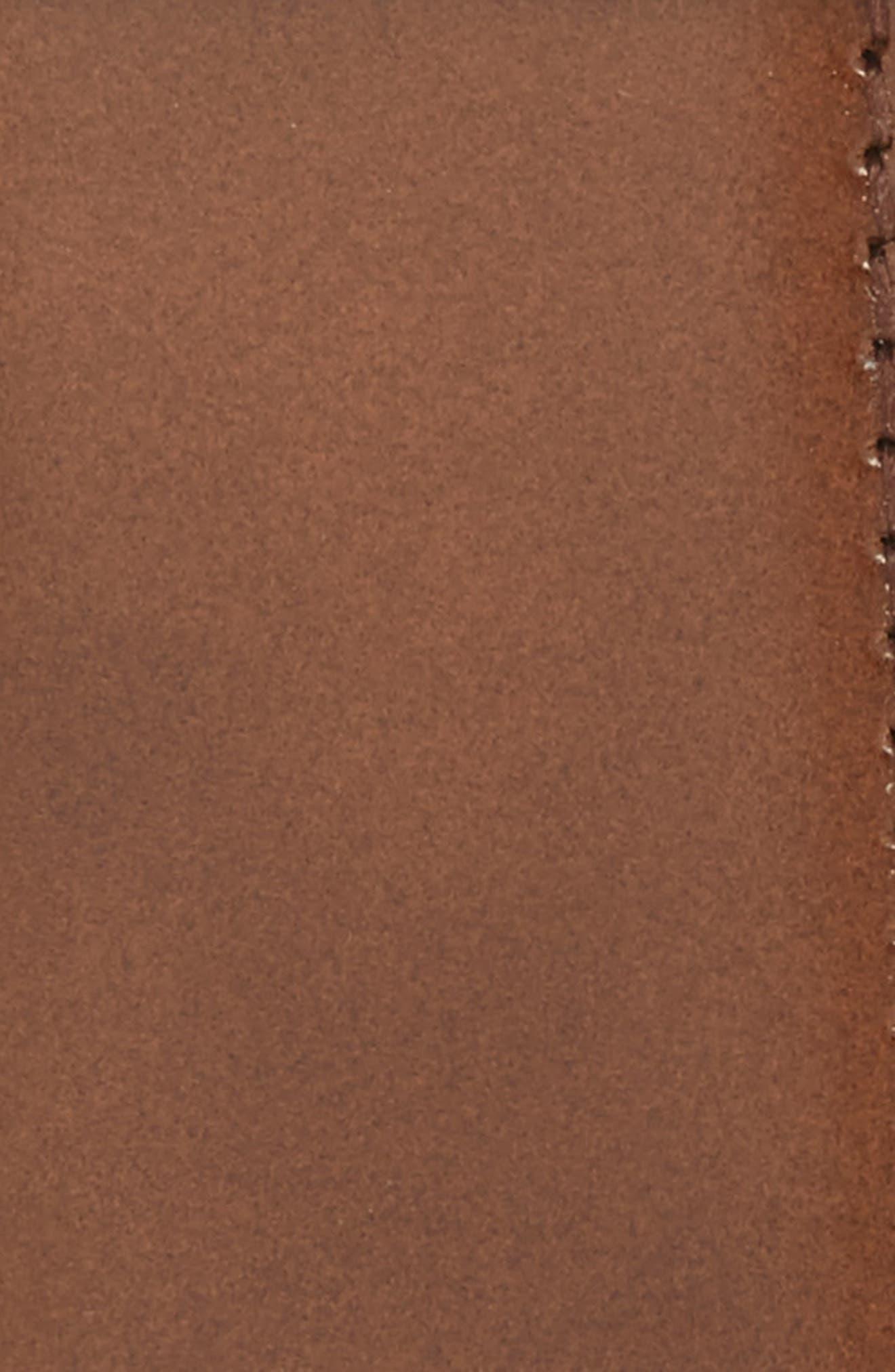 Reversible Leather Belt,                             Alternate thumbnail 3, color,                             MADERA/ BLACK