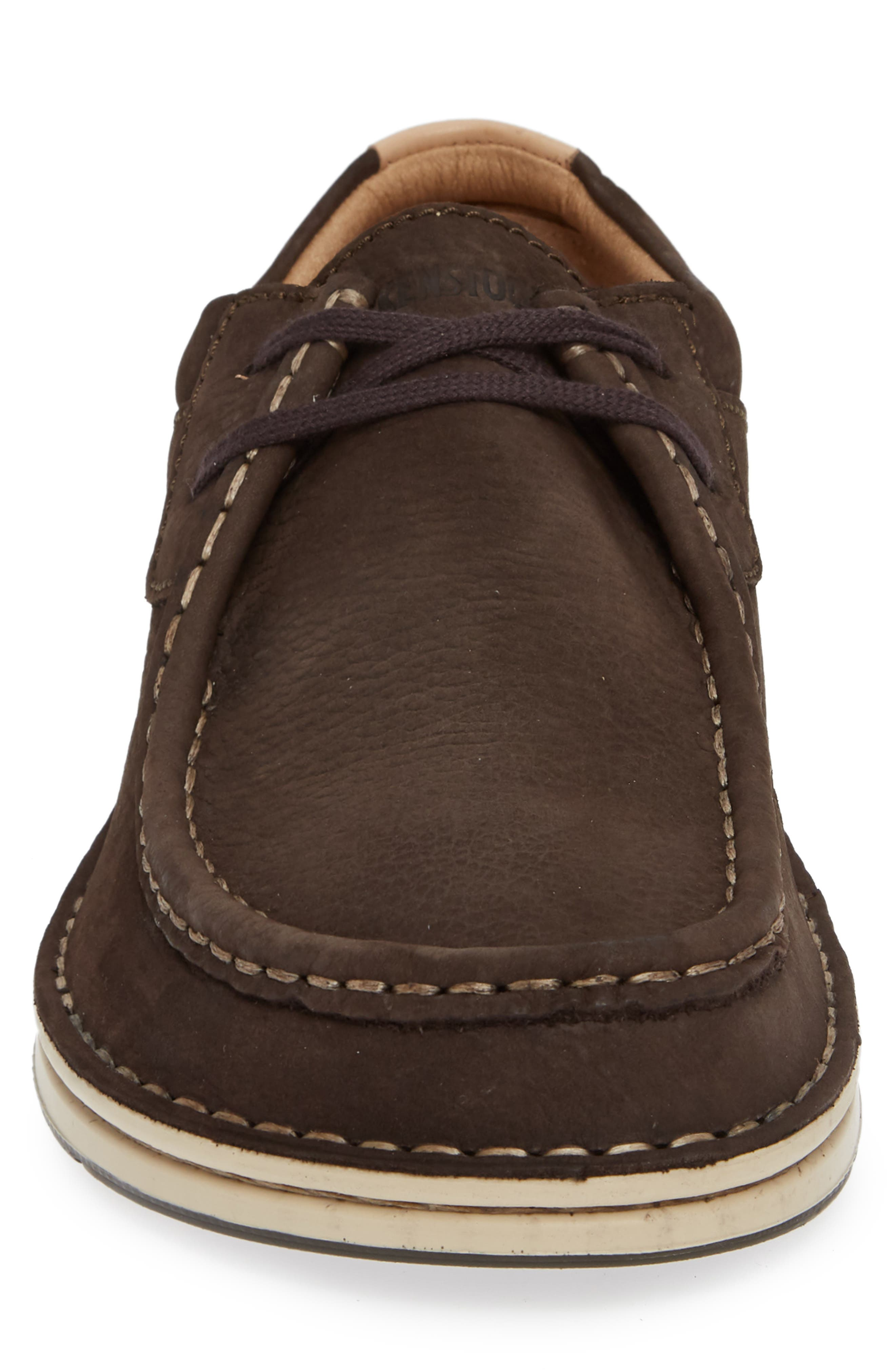 'Pasadena' Lace-Up Moccasin,                             Alternate thumbnail 4, color,                             BROWN