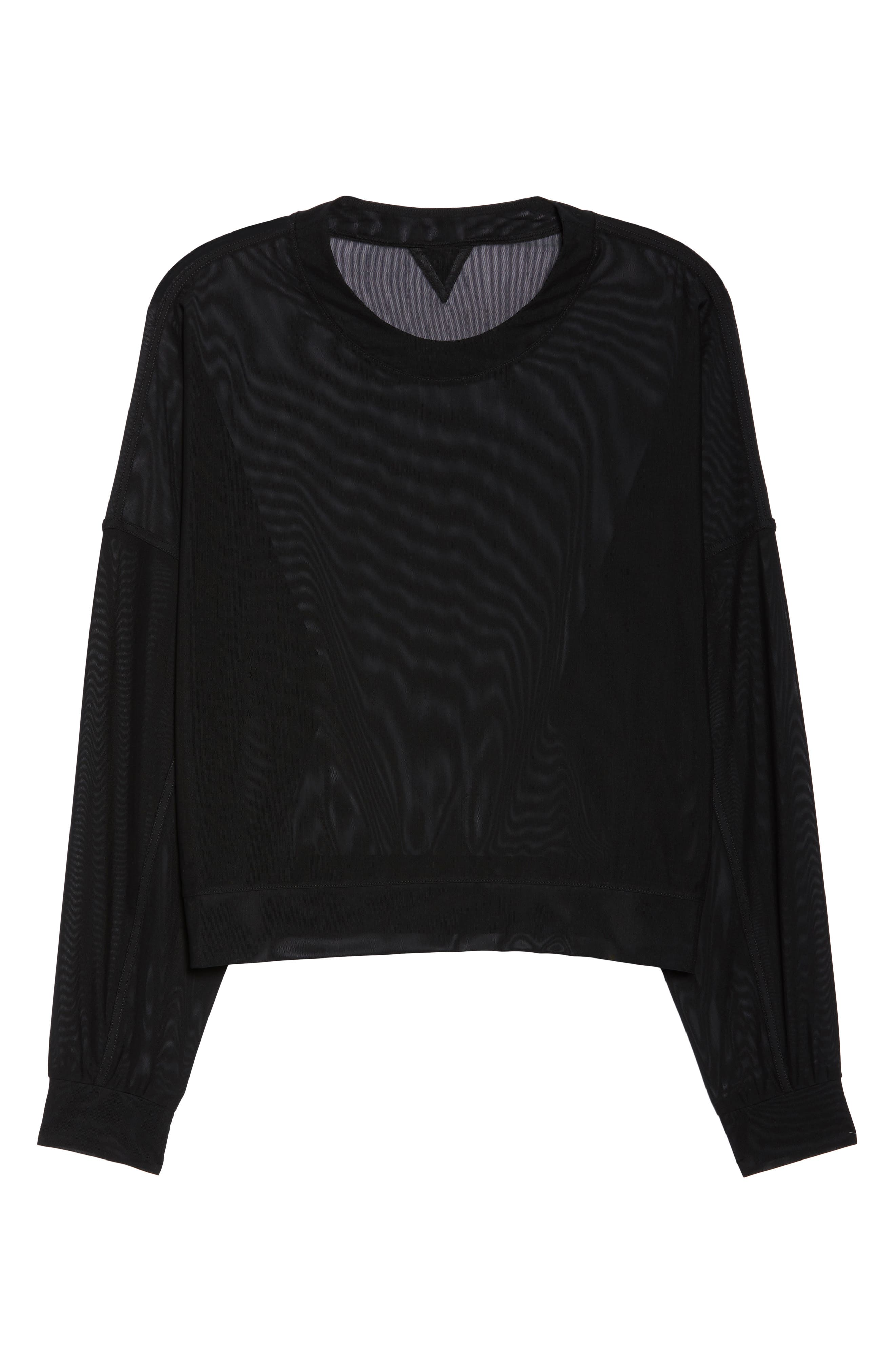 Ambiance Sheer Pullover,                             Alternate thumbnail 7, color,                             010