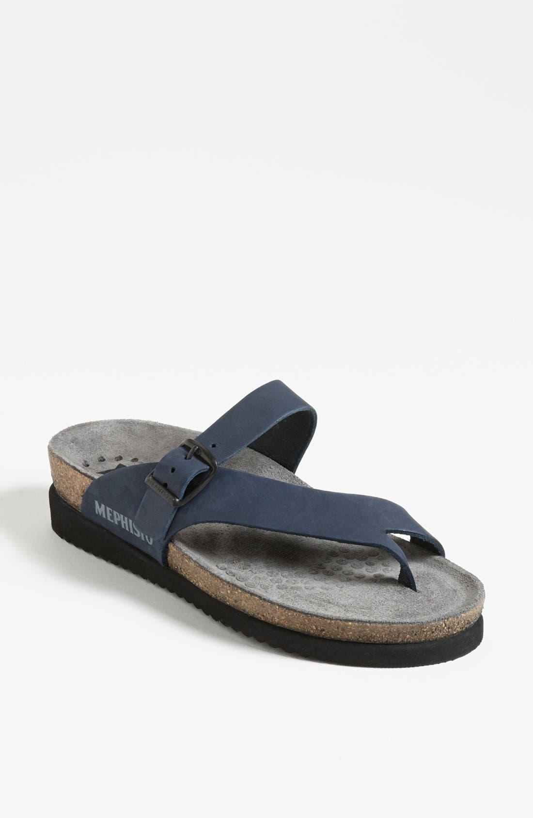 'Helen' Sandal, Main, color, NAVY NUBUCK