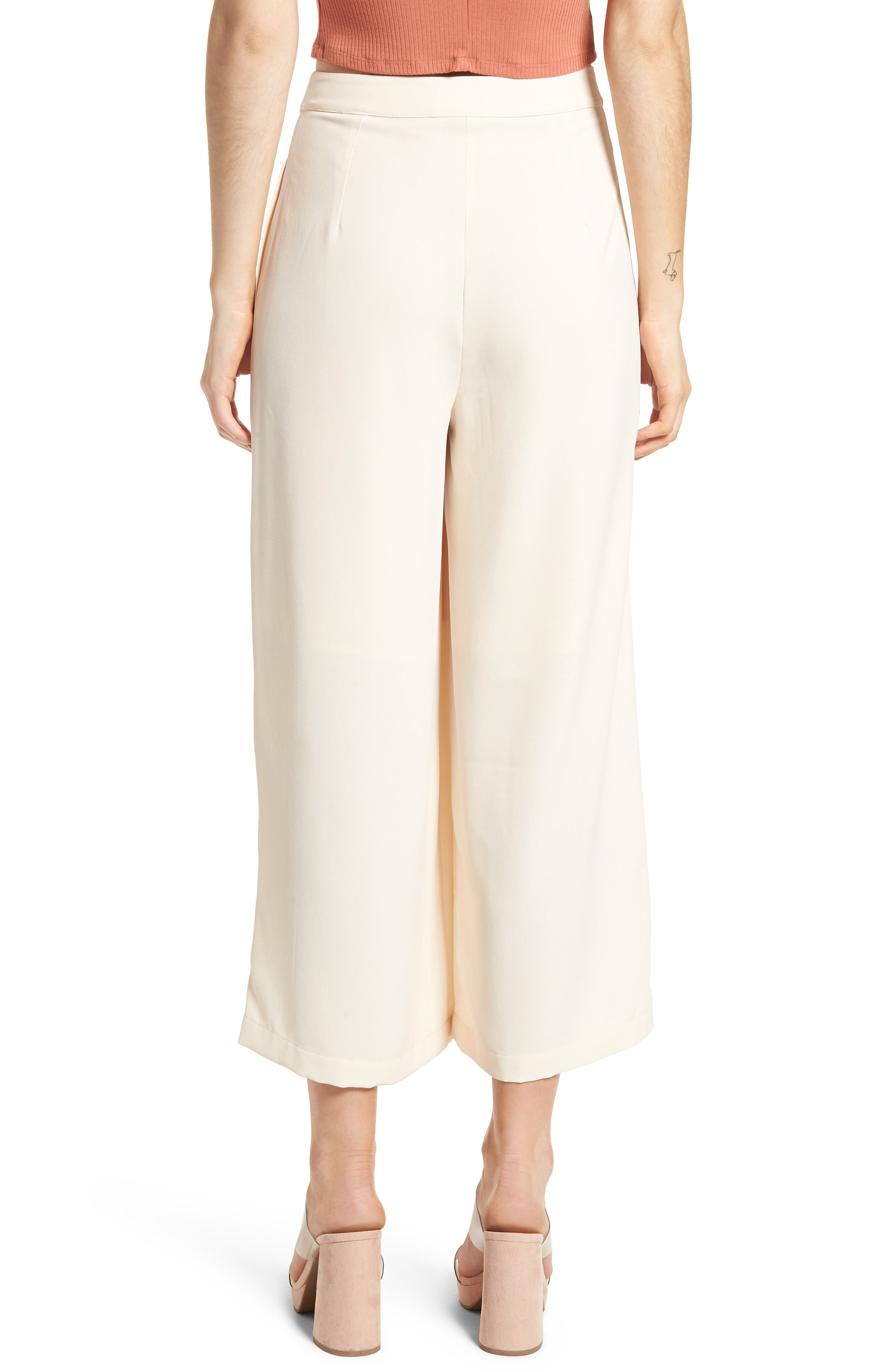 Chriselle x J.O.A. Pleat High Waist Crop Wide Leg Pants,                             Alternate thumbnail 2, color,                             650