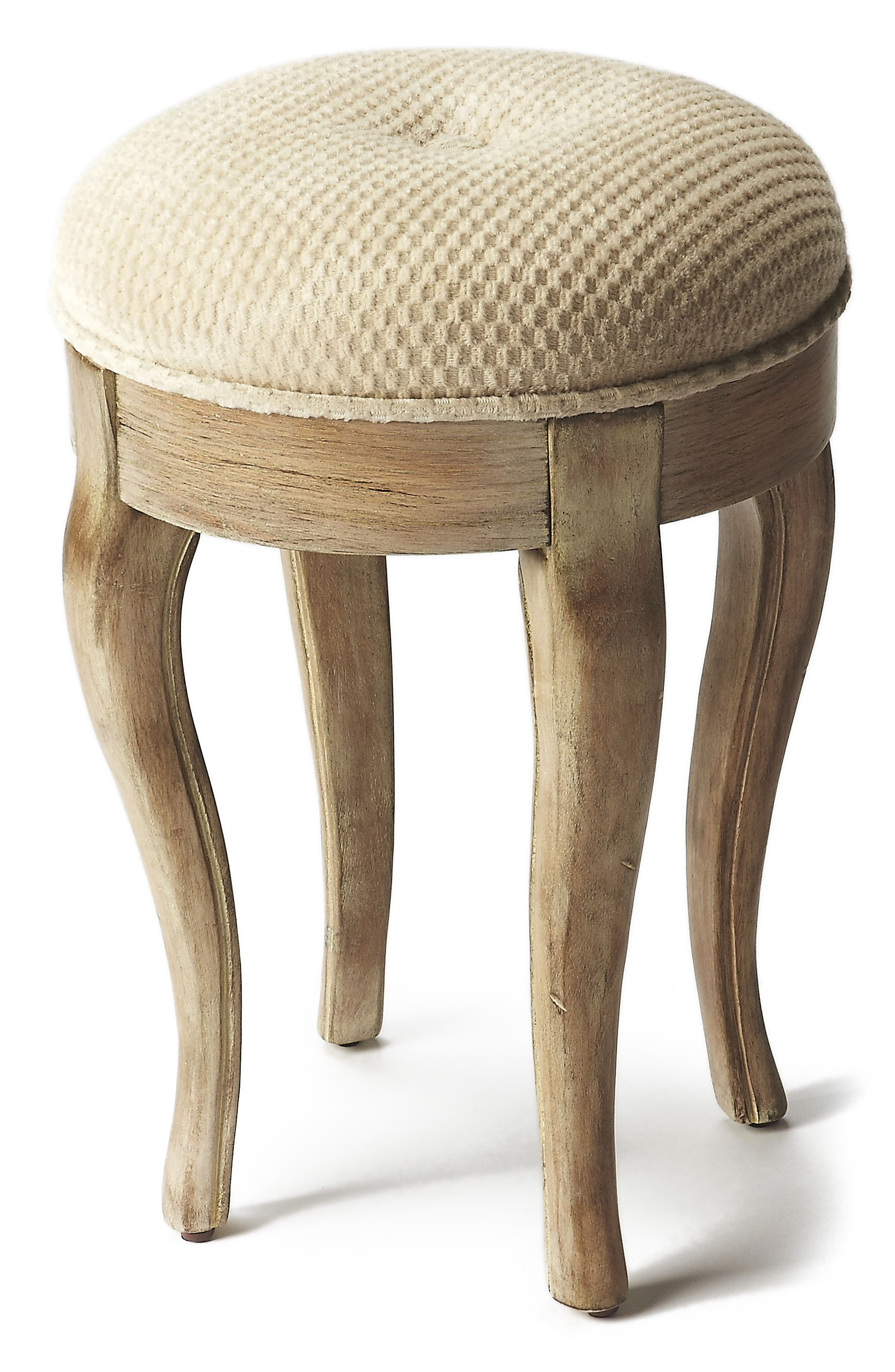 The Butler Cushioned Vanity Stool,                             Main thumbnail 1, color,                             020