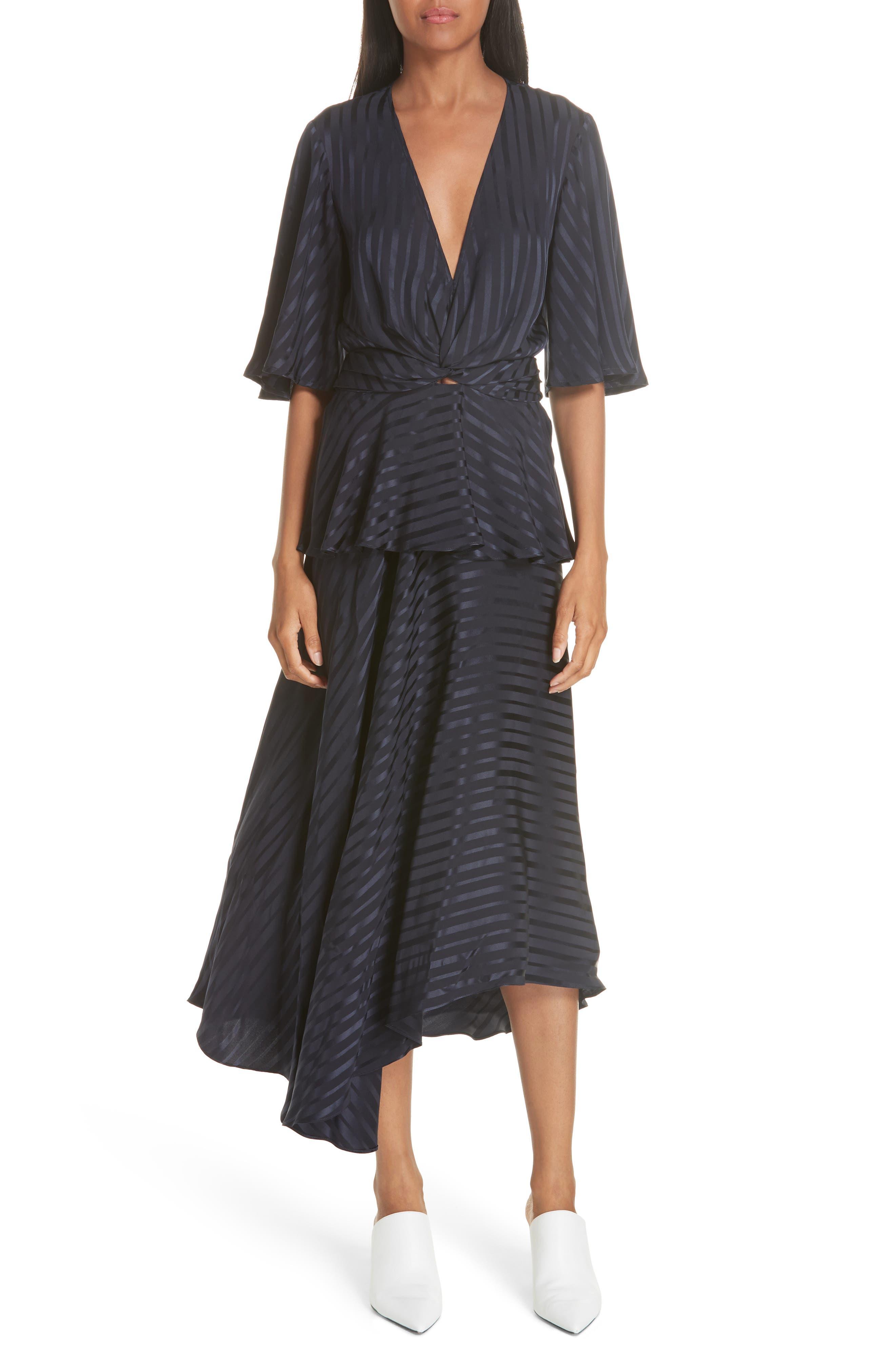 A.l.c. Avi Silk Dress, Blue