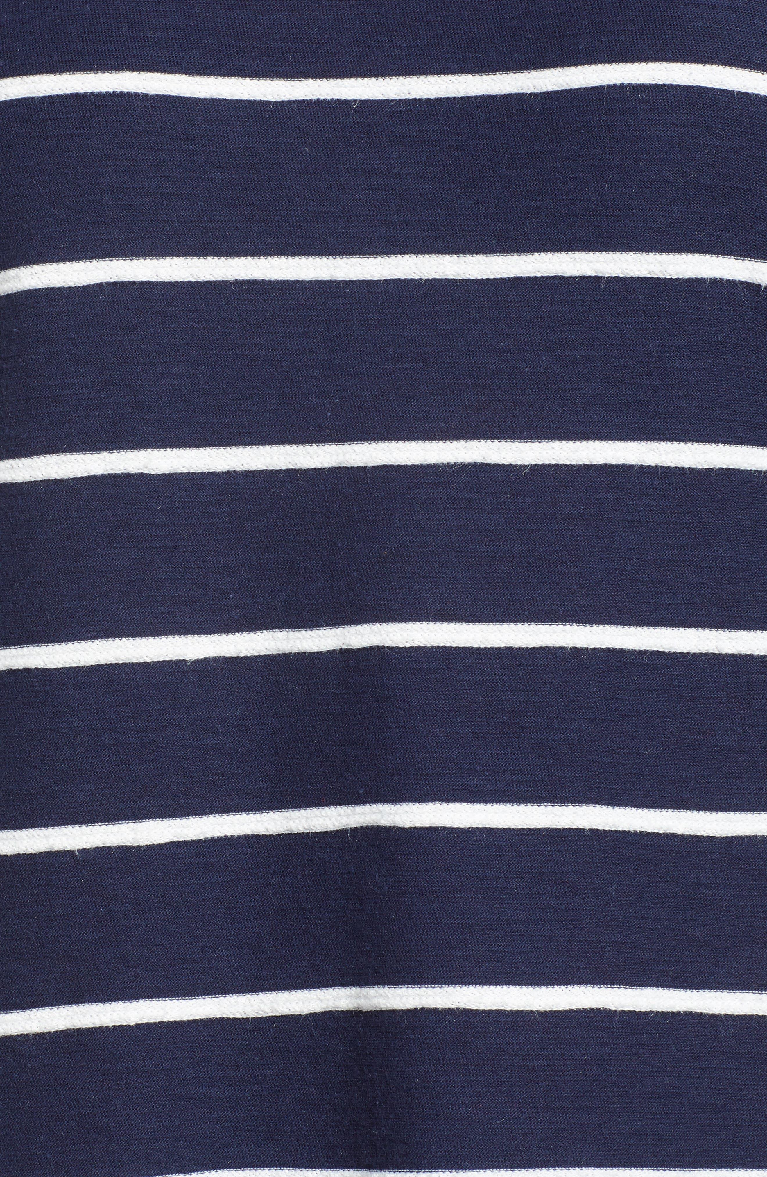 Side Tie Stripe Tee,                             Alternate thumbnail 16, color,