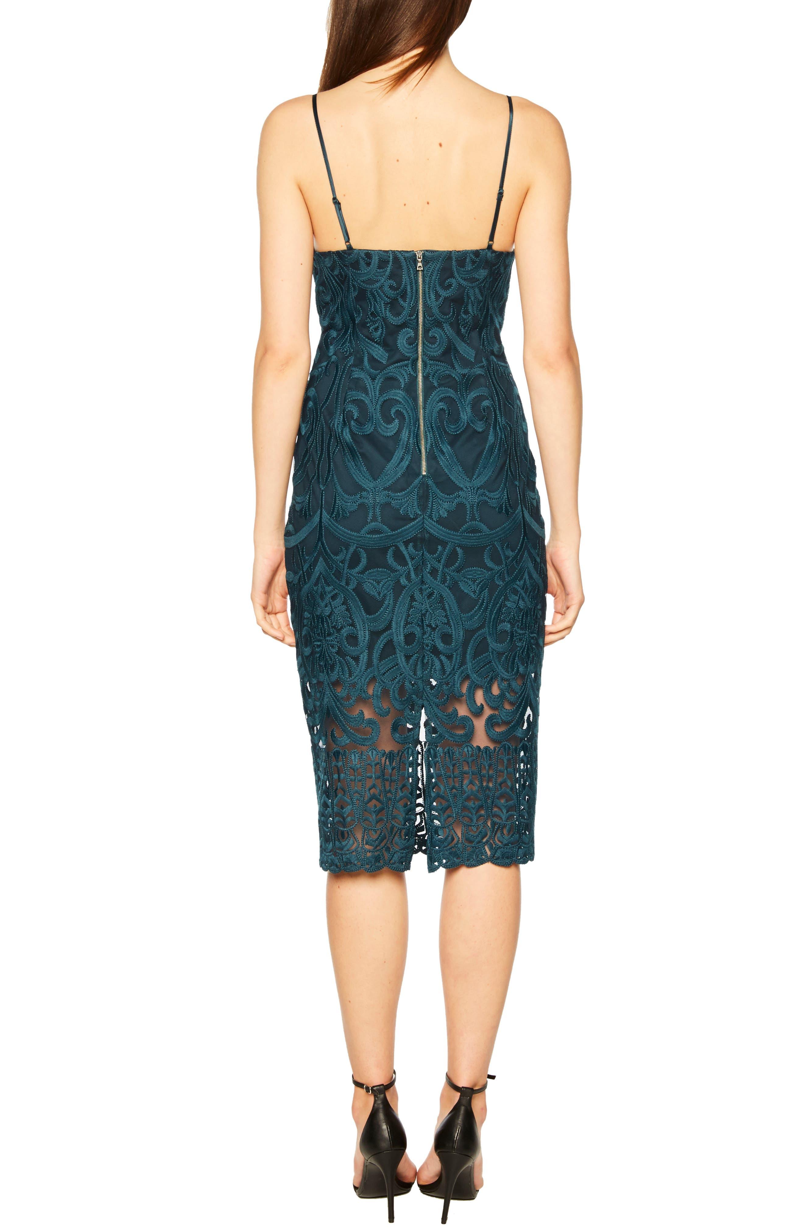 Gia Lace Pencil Dress,                             Alternate thumbnail 2, color,                             ASH BLUE