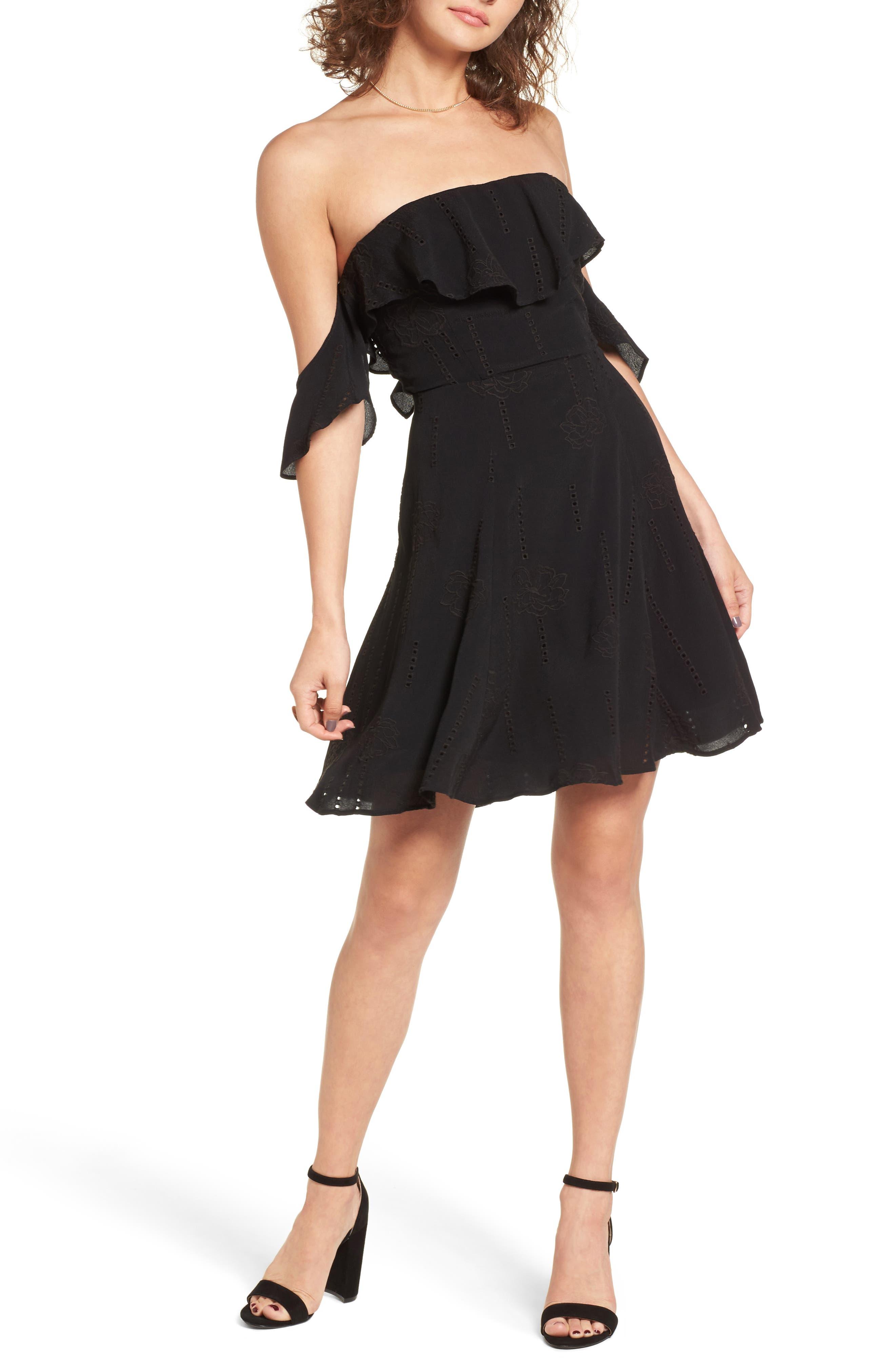 Sabina A-Line Dress,                         Main,                         color, 001