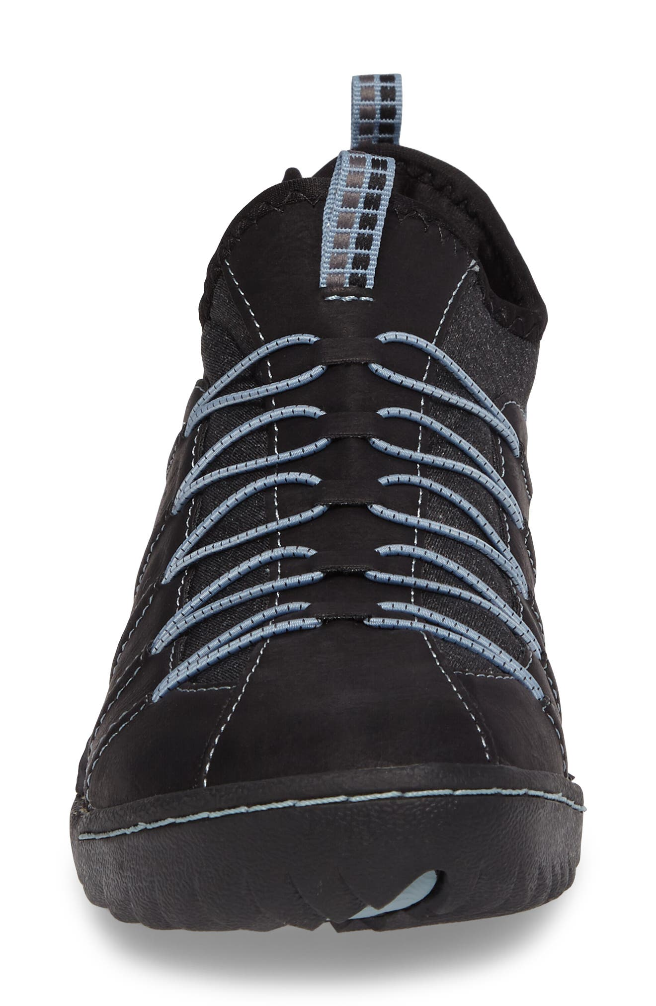 Spirit Sneaker,                             Alternate thumbnail 4, color,                             BLACK/ BLUE SMOKE LEATHER