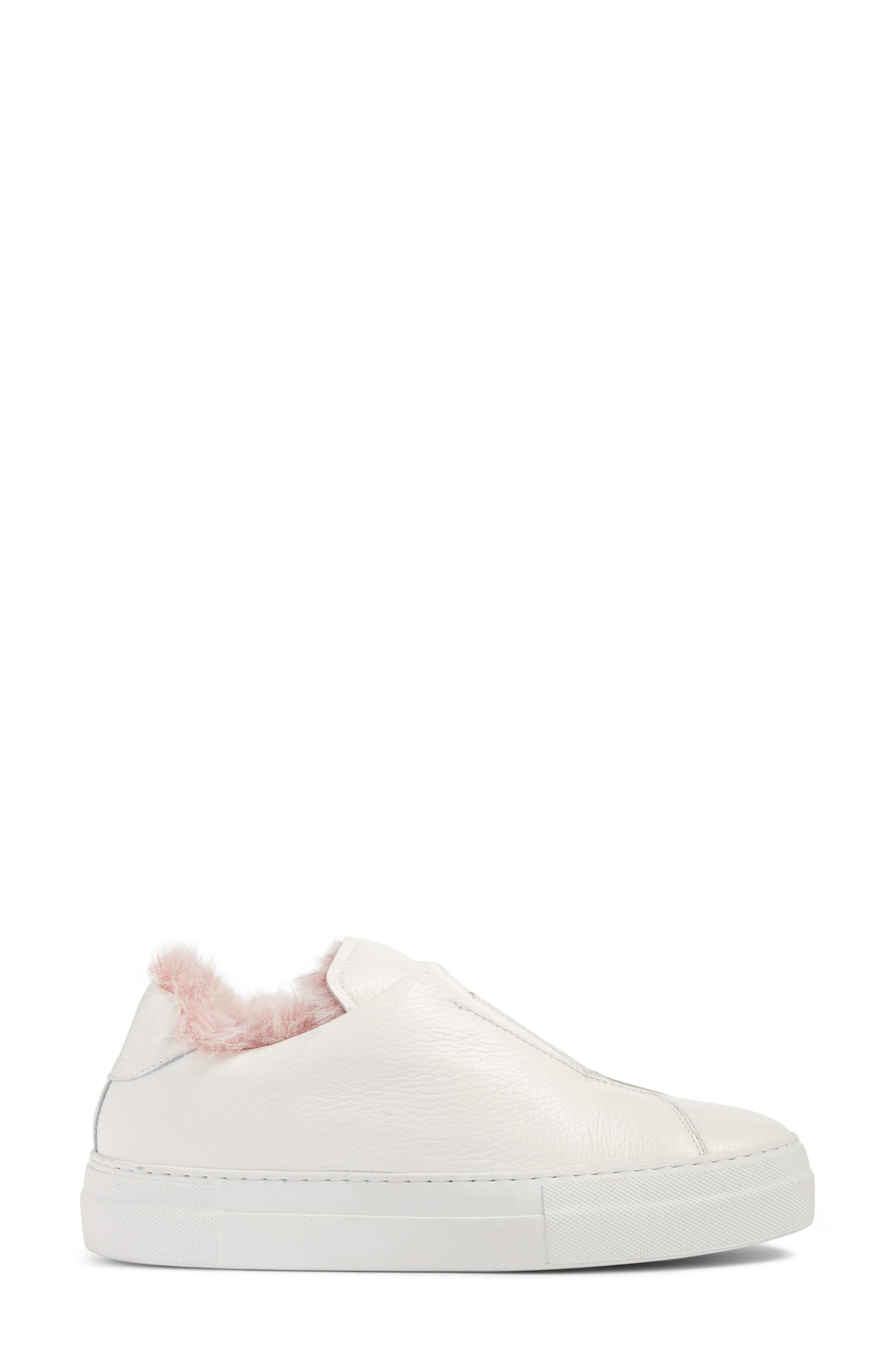 Faux Fur Slip-On Sneaker,                             Alternate thumbnail 6, color,