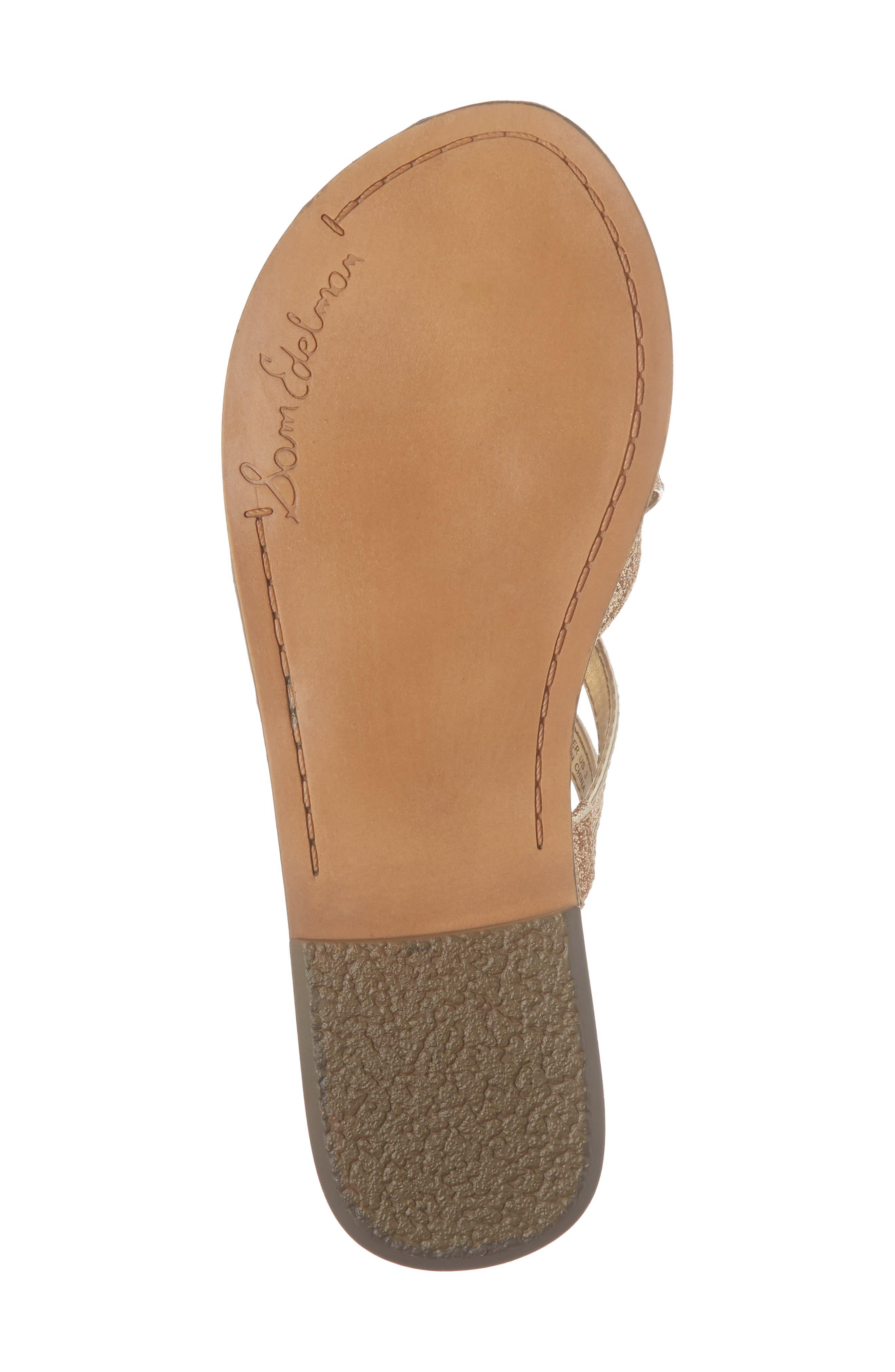 Georgette Glitter Flat Sandal,                             Alternate thumbnail 18, color,