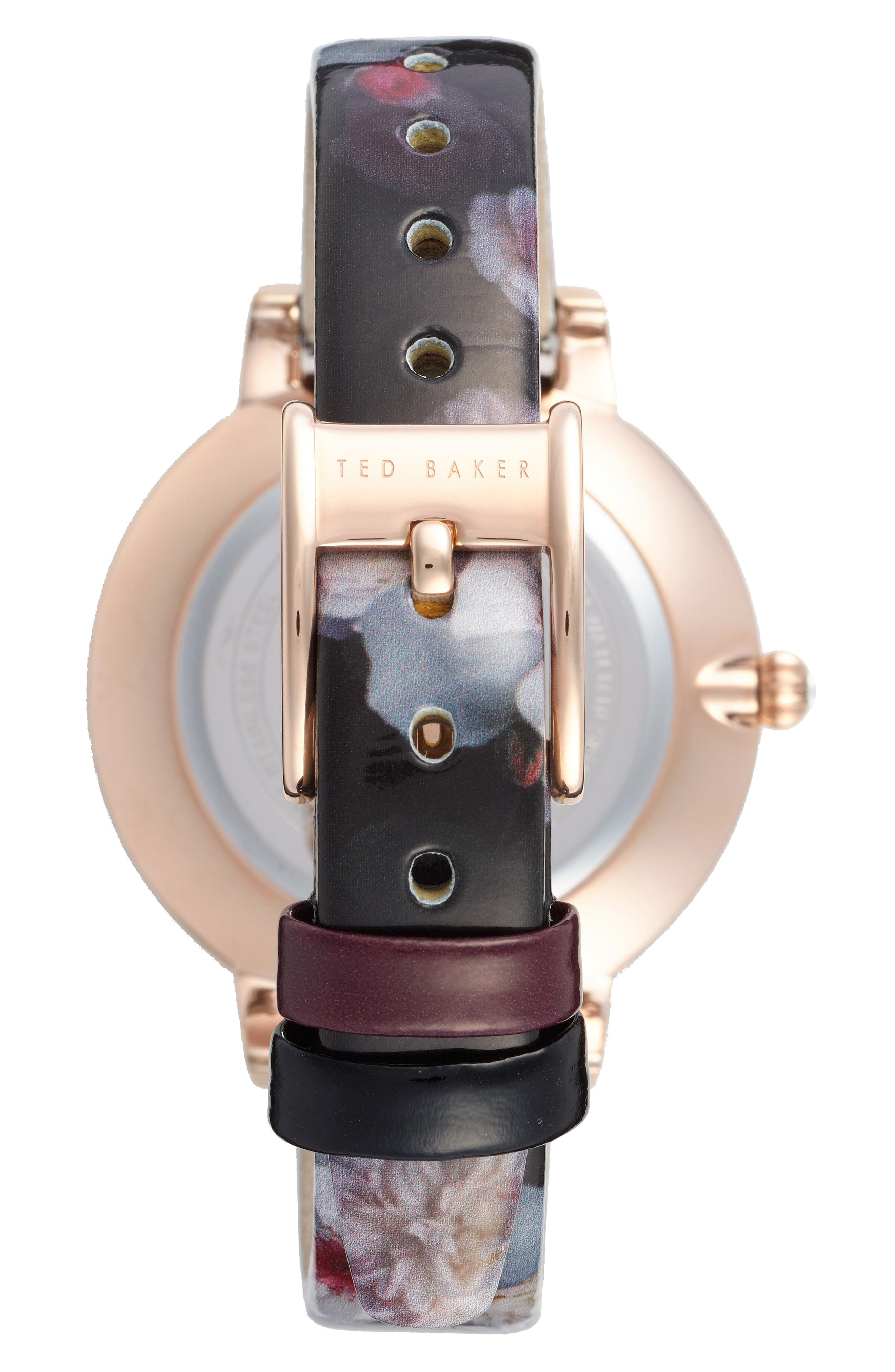 Kate Print Leather Strap Watch, 38mm,                             Alternate thumbnail 7, color,