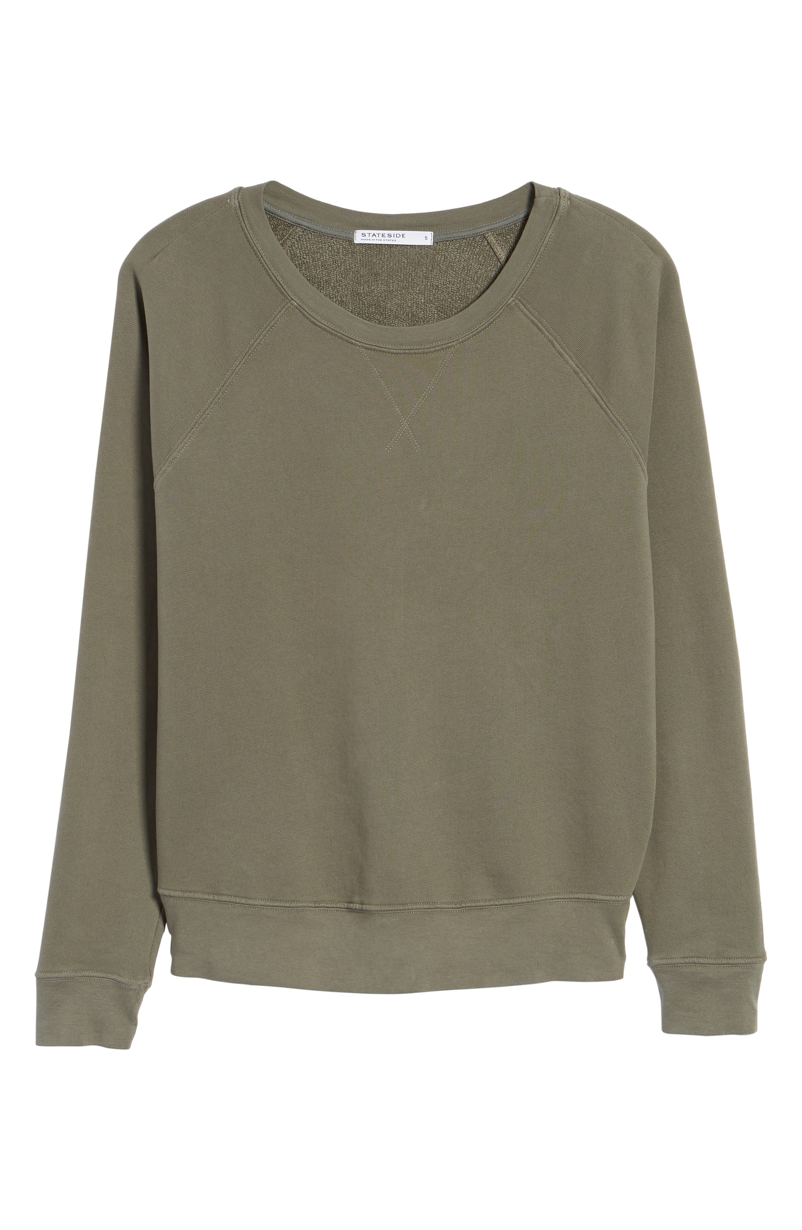 French Terry Sweatshirt,                             Alternate thumbnail 6, color,                             300