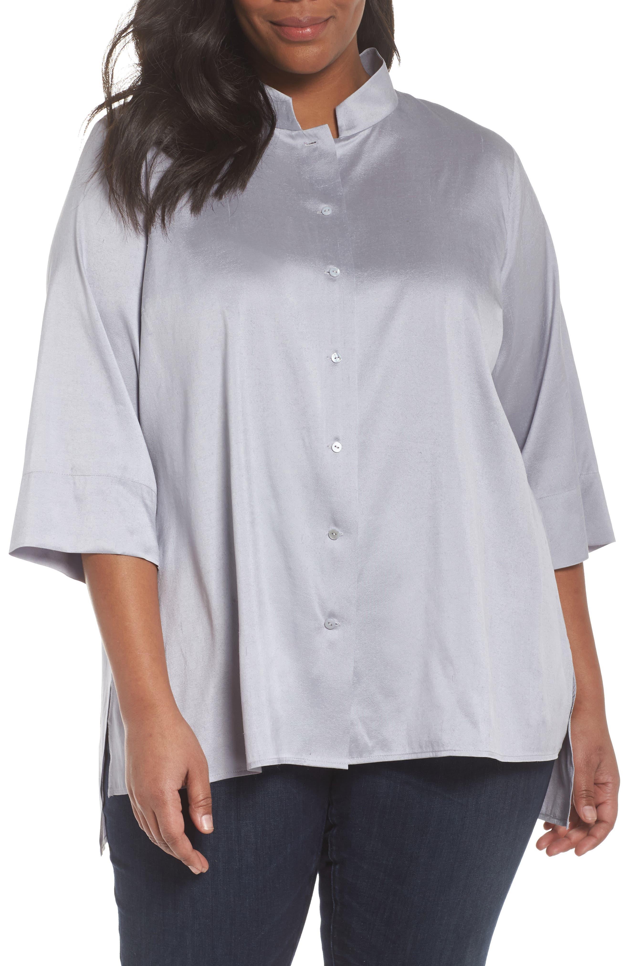 Notch Collar Shirt,                         Main,                         color,