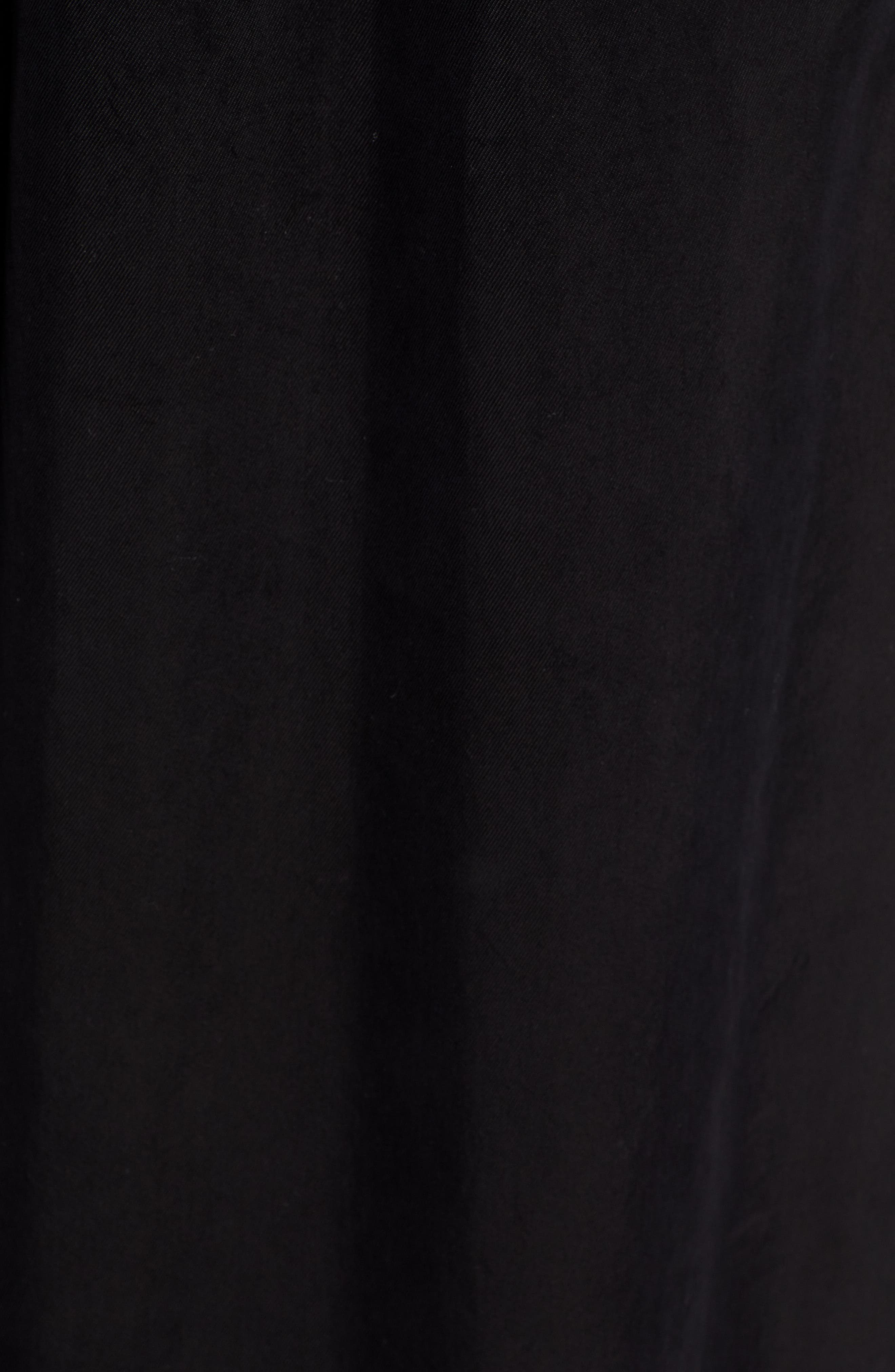 Jenna Cupro Wide Leg Pants,                             Alternate thumbnail 6, color,                             BLACK