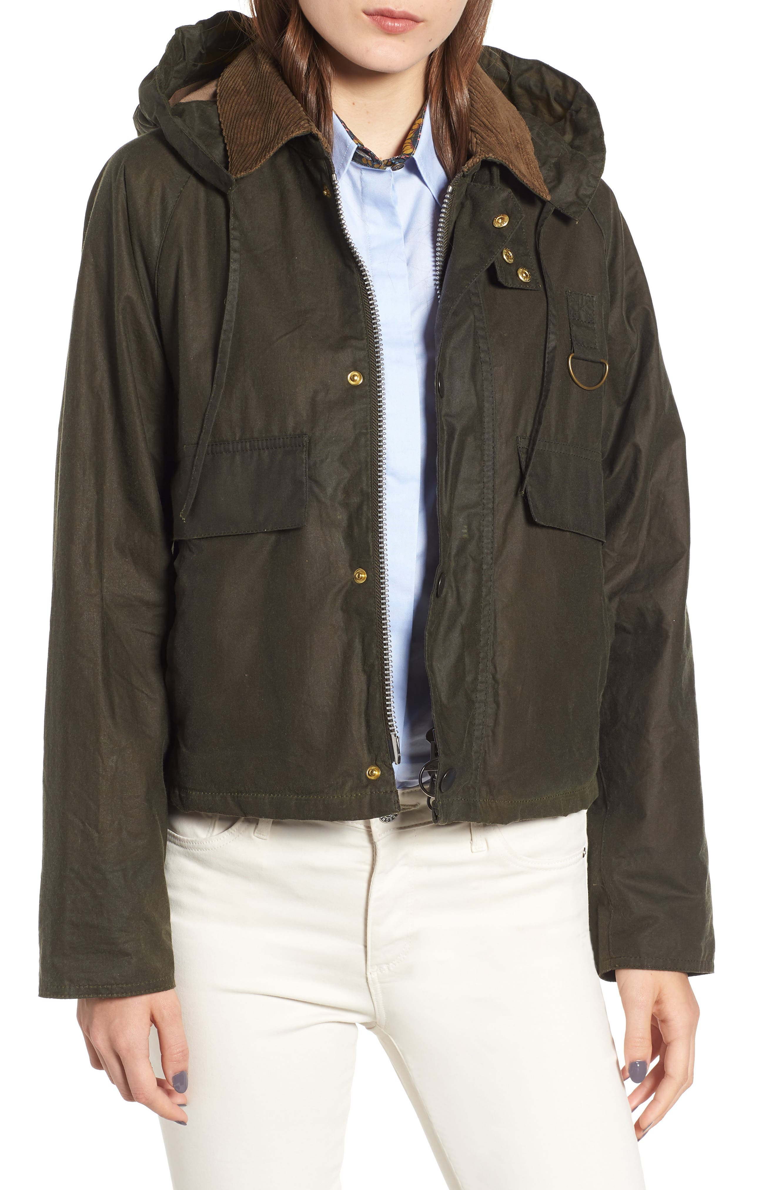 Barbour Margaret Howell Spey Water Resistant Waxed Cotton Jacket, US / 12 UK - Green