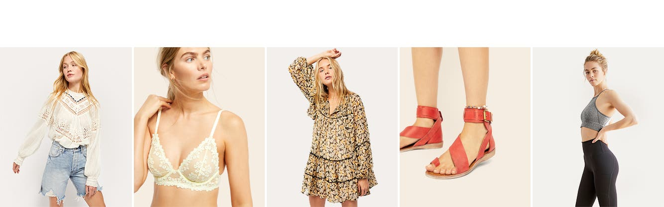 Discover Free People's spring spirit: women's clothing, shoes and activewear.