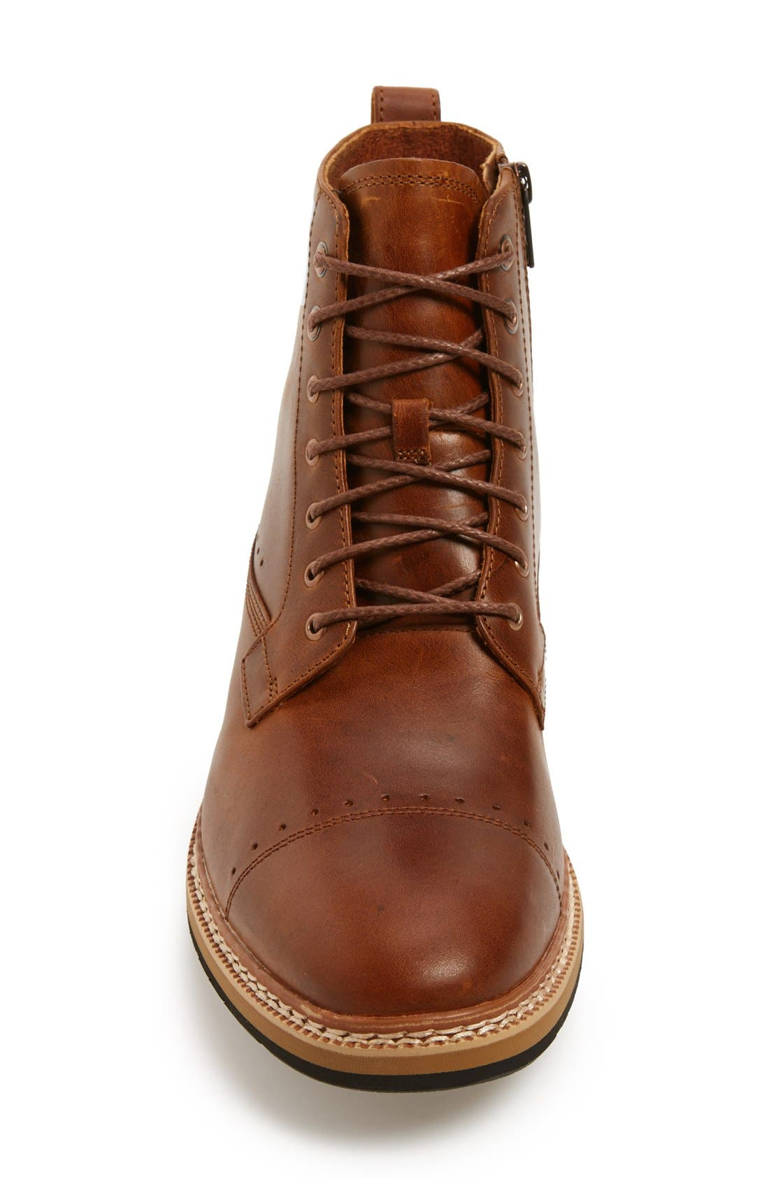 Westhaven 6 Side Zip Boot,                             Alternate thumbnail 3, color,                             LIGHT BROWN LEATHER