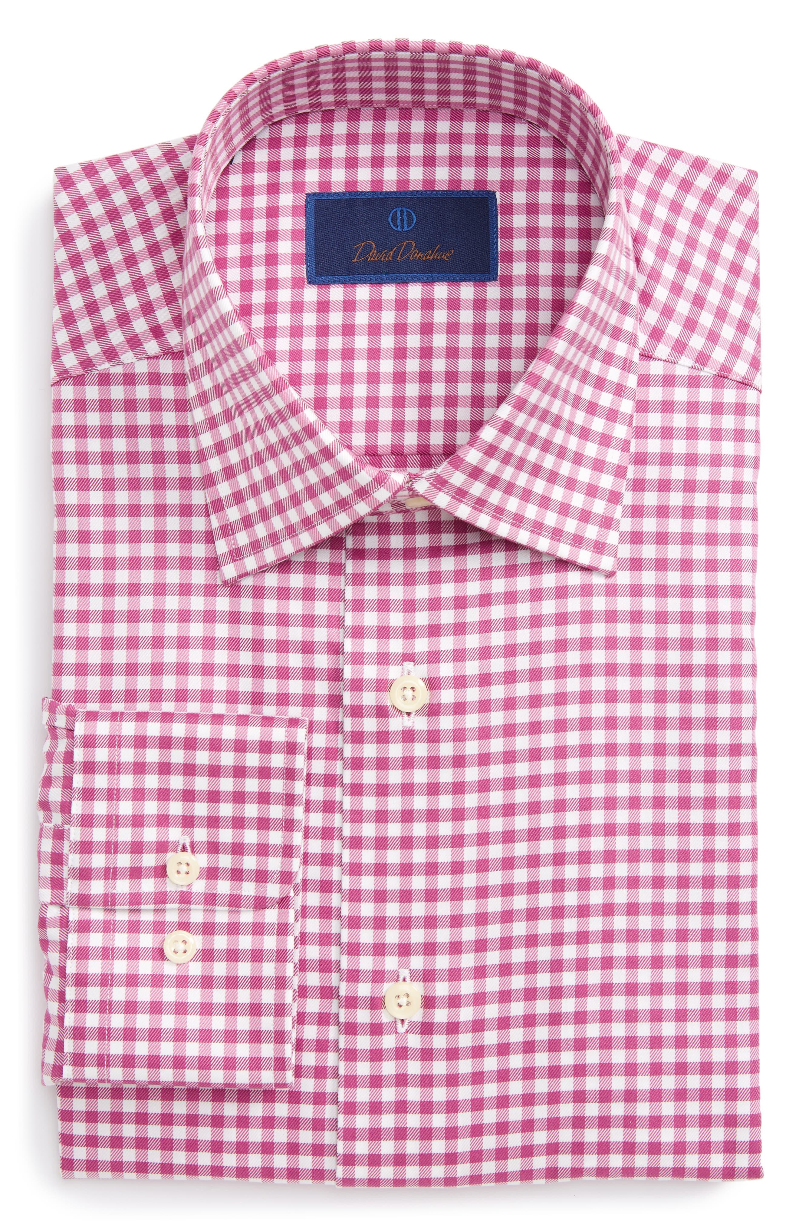 Regular Fit Check Dress Shirt,                         Main,                         color, 652