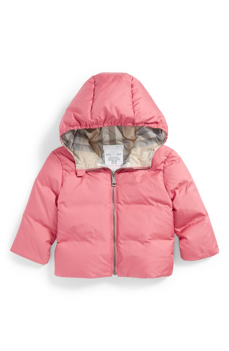 94c691ea1 Burberry Reversible Hooded Down Jacket (Baby Girls)