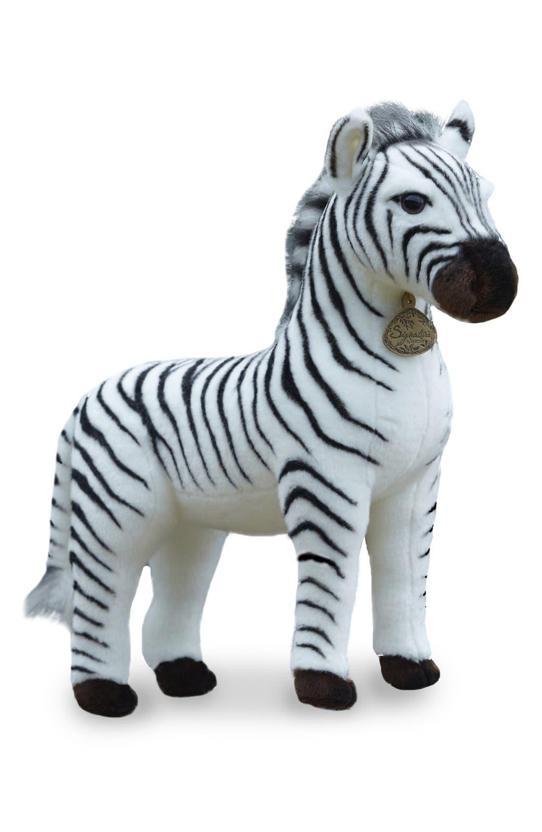 'Grevy's Zebra' Stuffed Animal,                             Main thumbnail 1, color,                             BLACK
