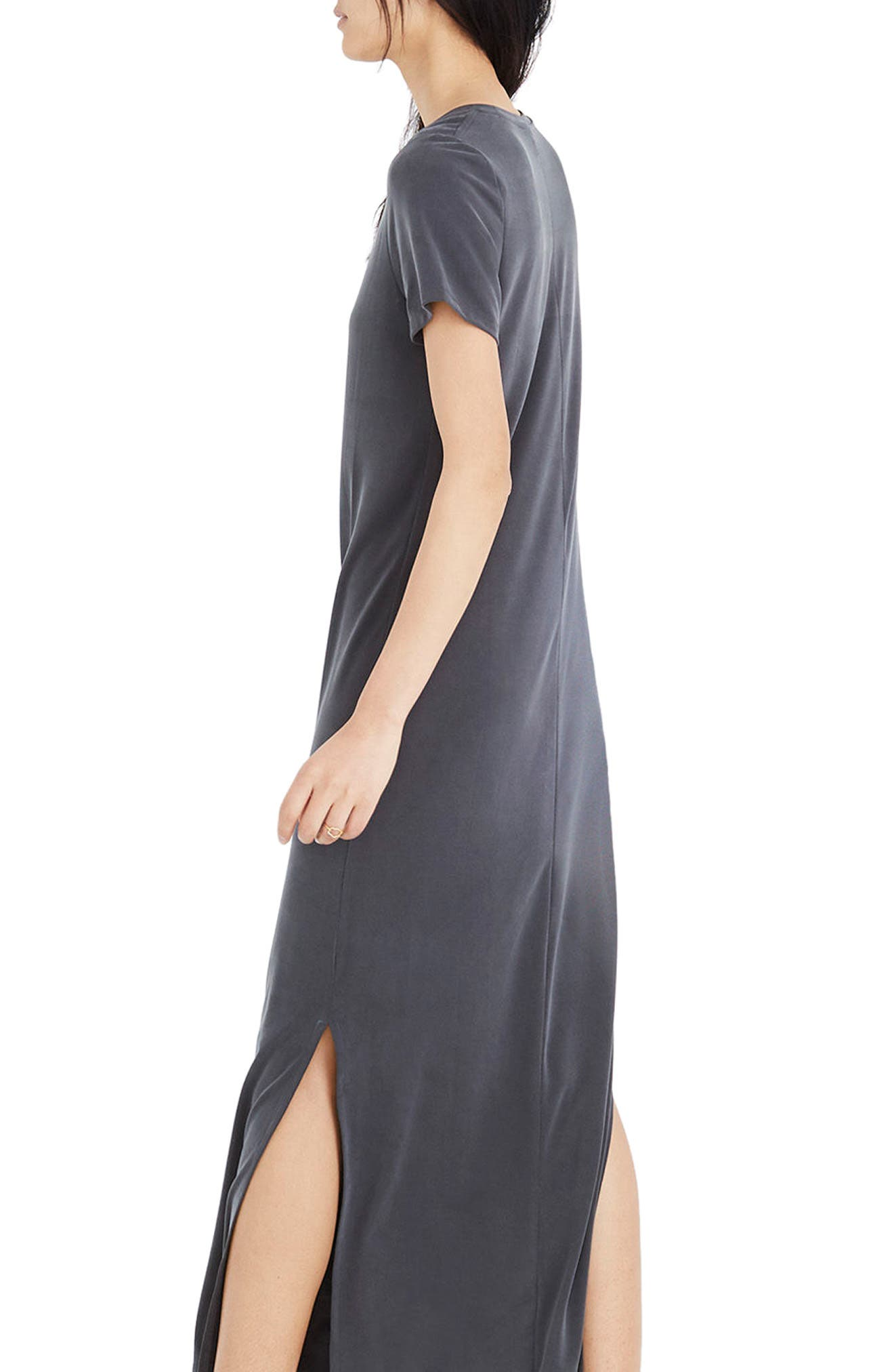 MADEWELL,                             Sandwashed Maxi T-Shirt Dress,                             Alternate thumbnail 3, color,                             020
