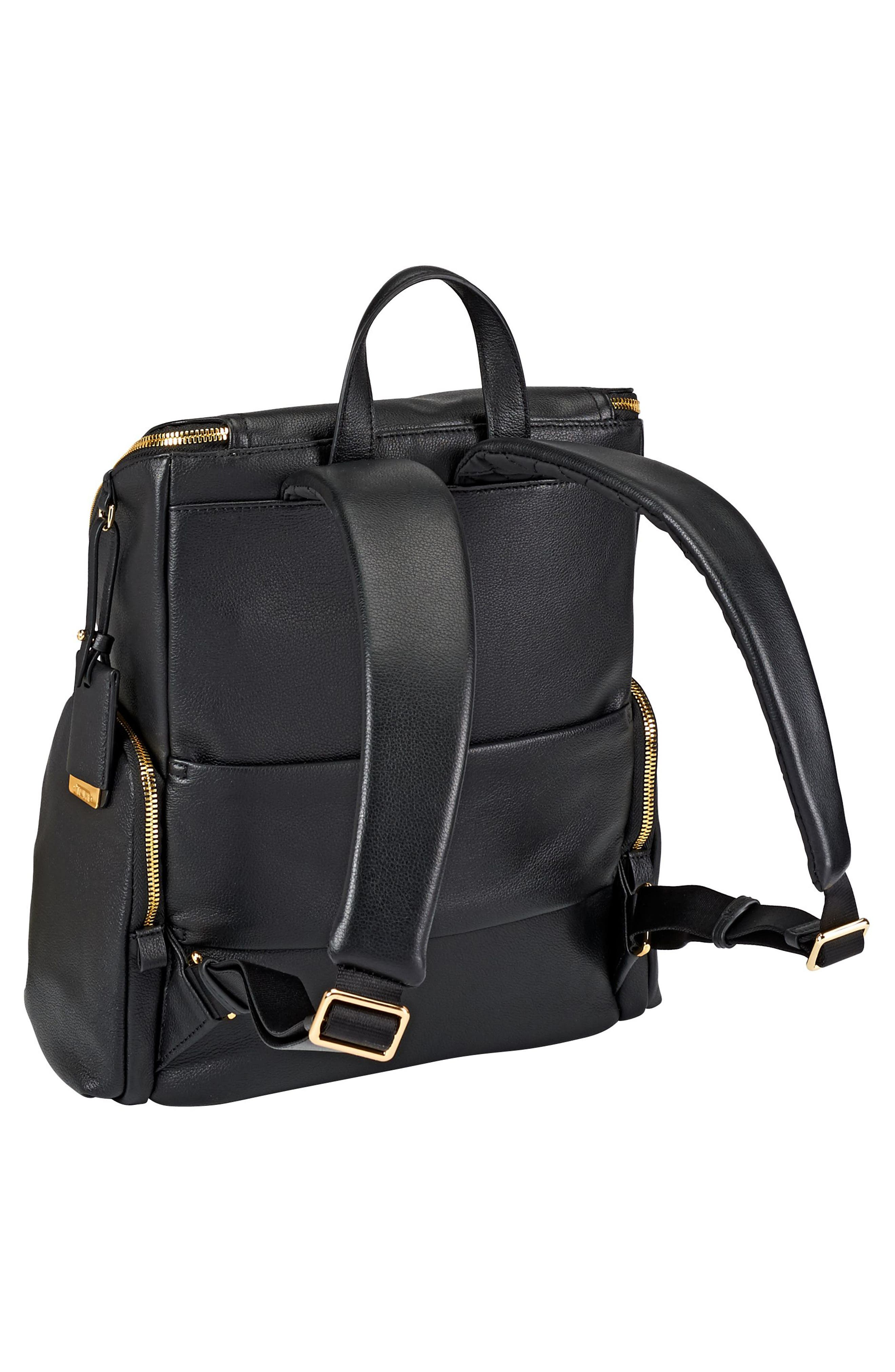 Voyageur Lexa Leather Backpack,                             Alternate thumbnail 3, color,                             001