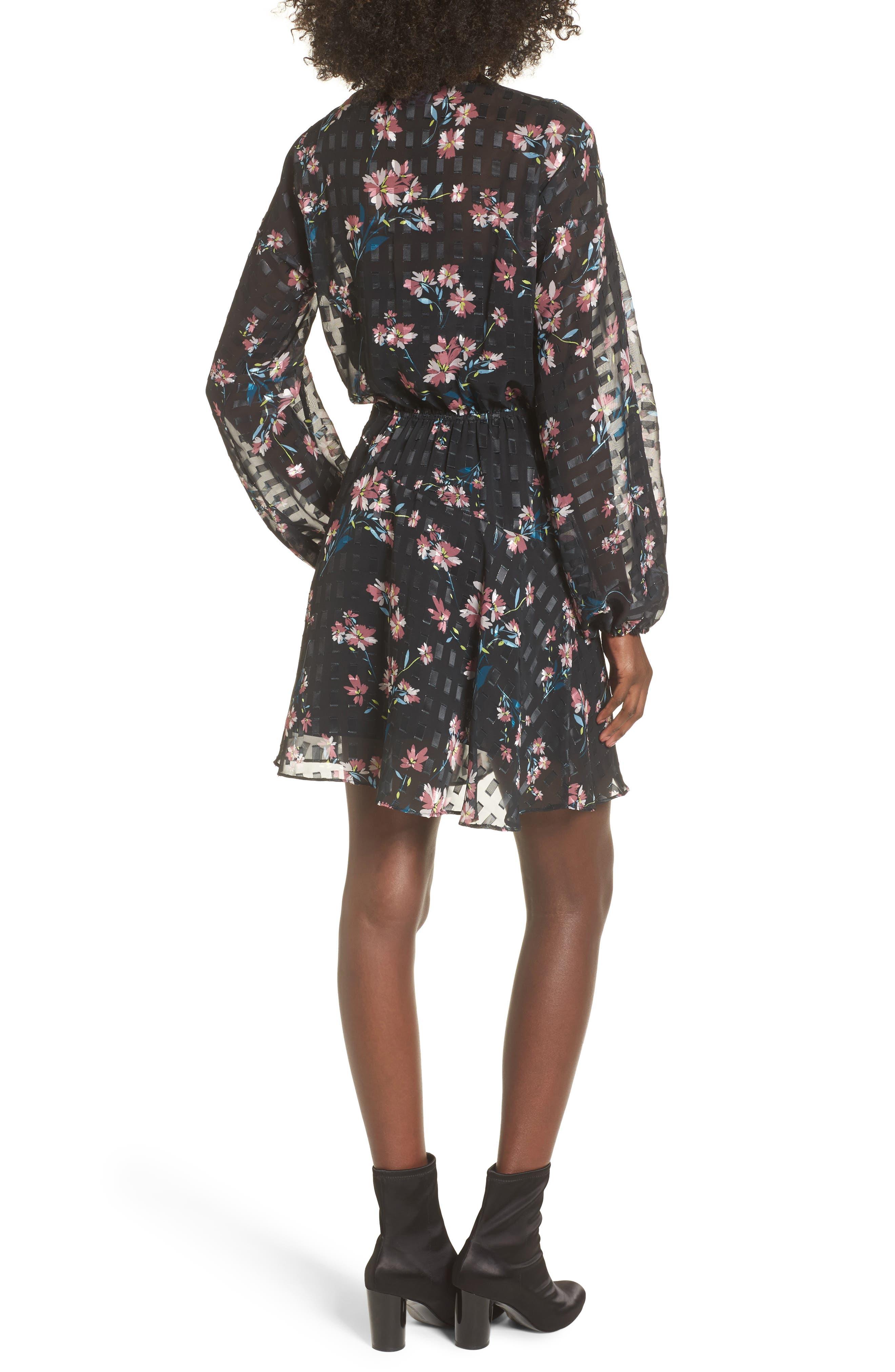 Alexis Floral Dress,                             Alternate thumbnail 2, color,                             002