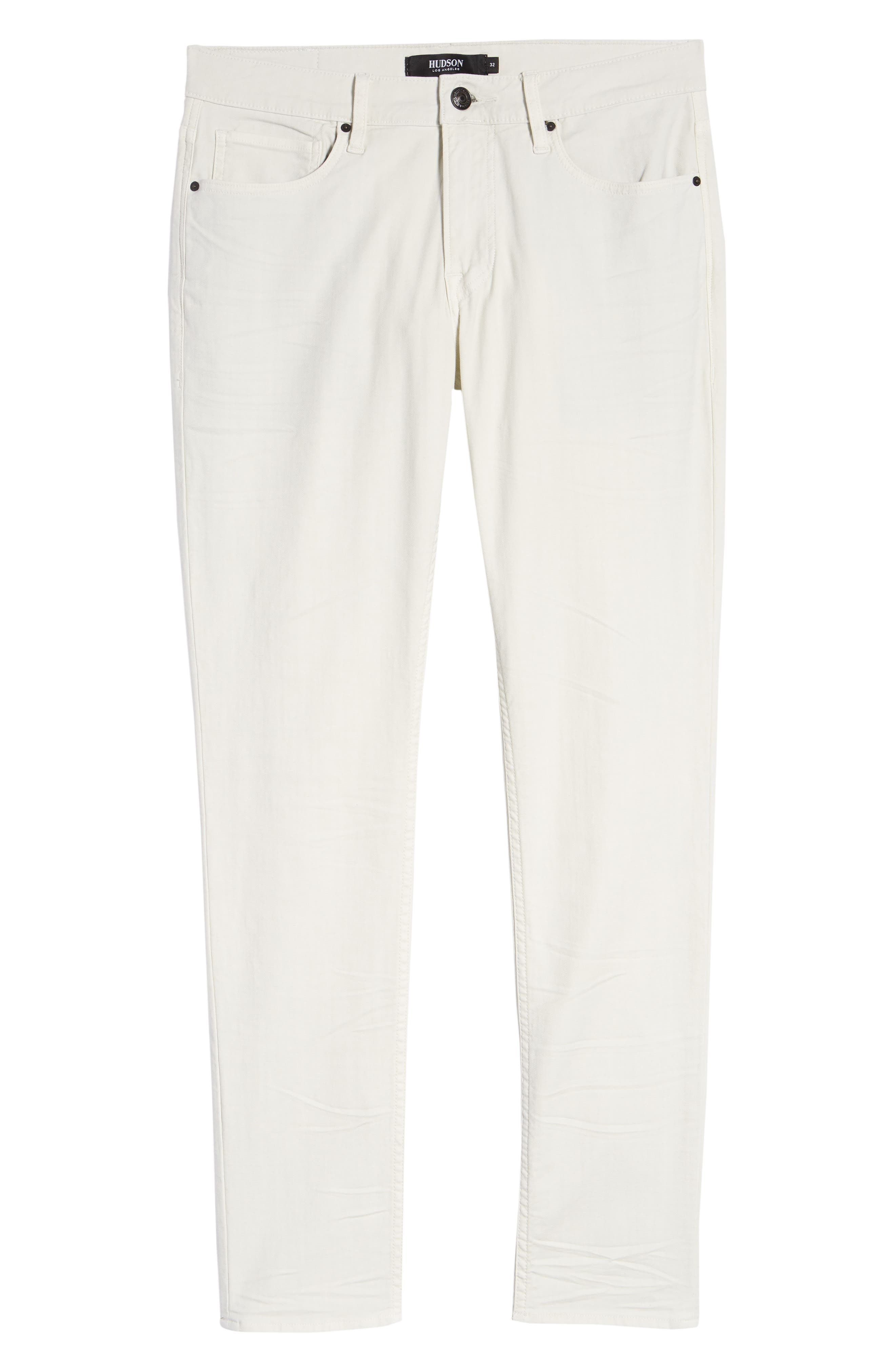 Hudson Axl Skinny Fit Jeans,                             Alternate thumbnail 6, color,                             DIRTY WHITE