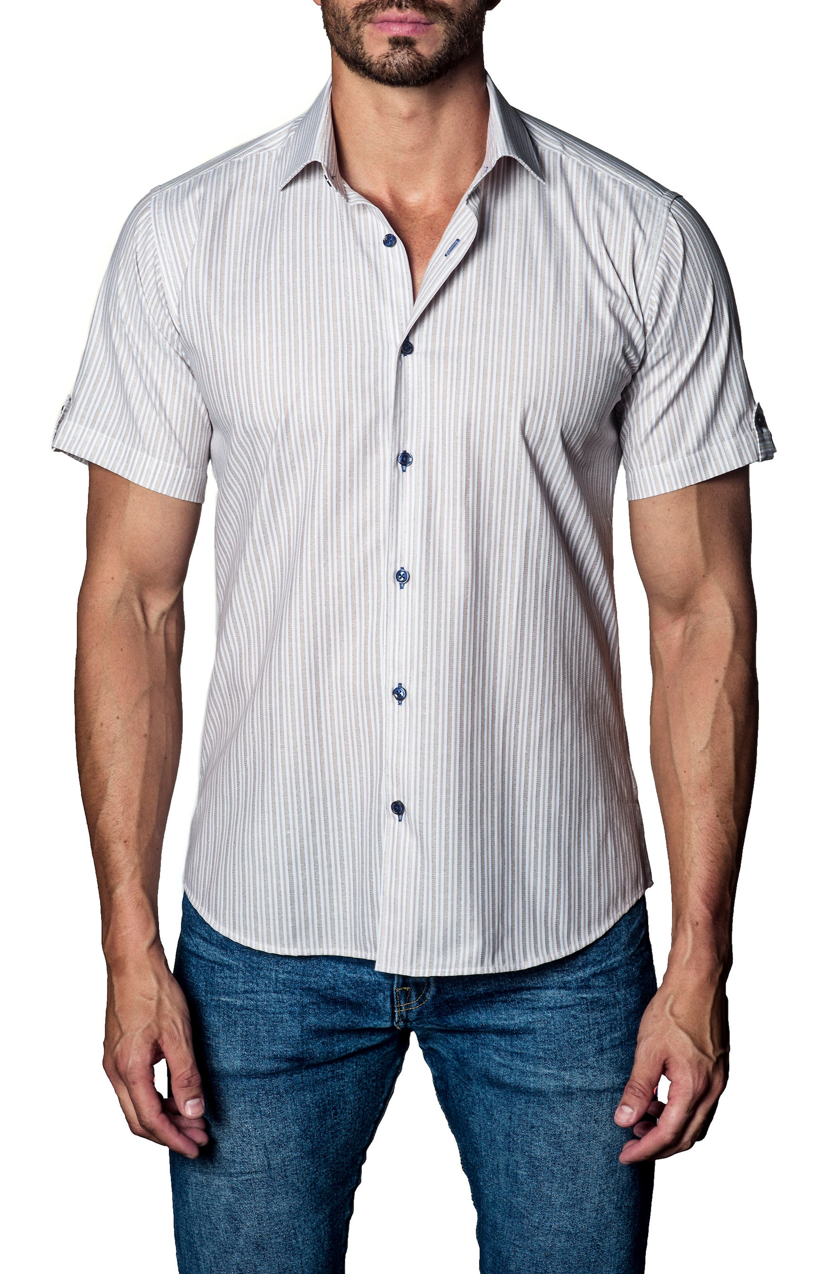 Stripe Sport Shirt,                             Main thumbnail 1, color,                             160