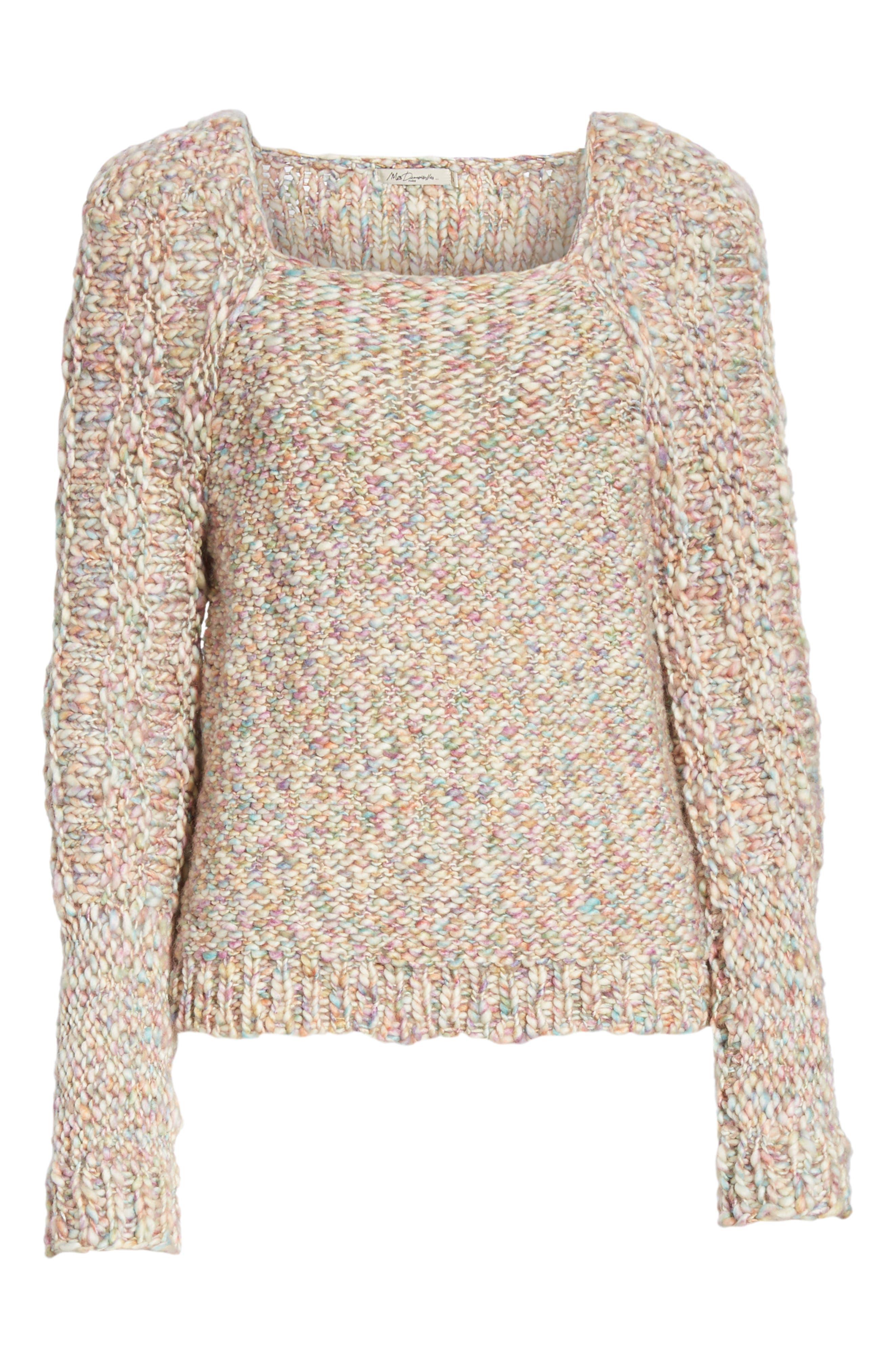 Joplin Wool Sweater,                             Alternate thumbnail 6, color,                             PASTEL MULTI