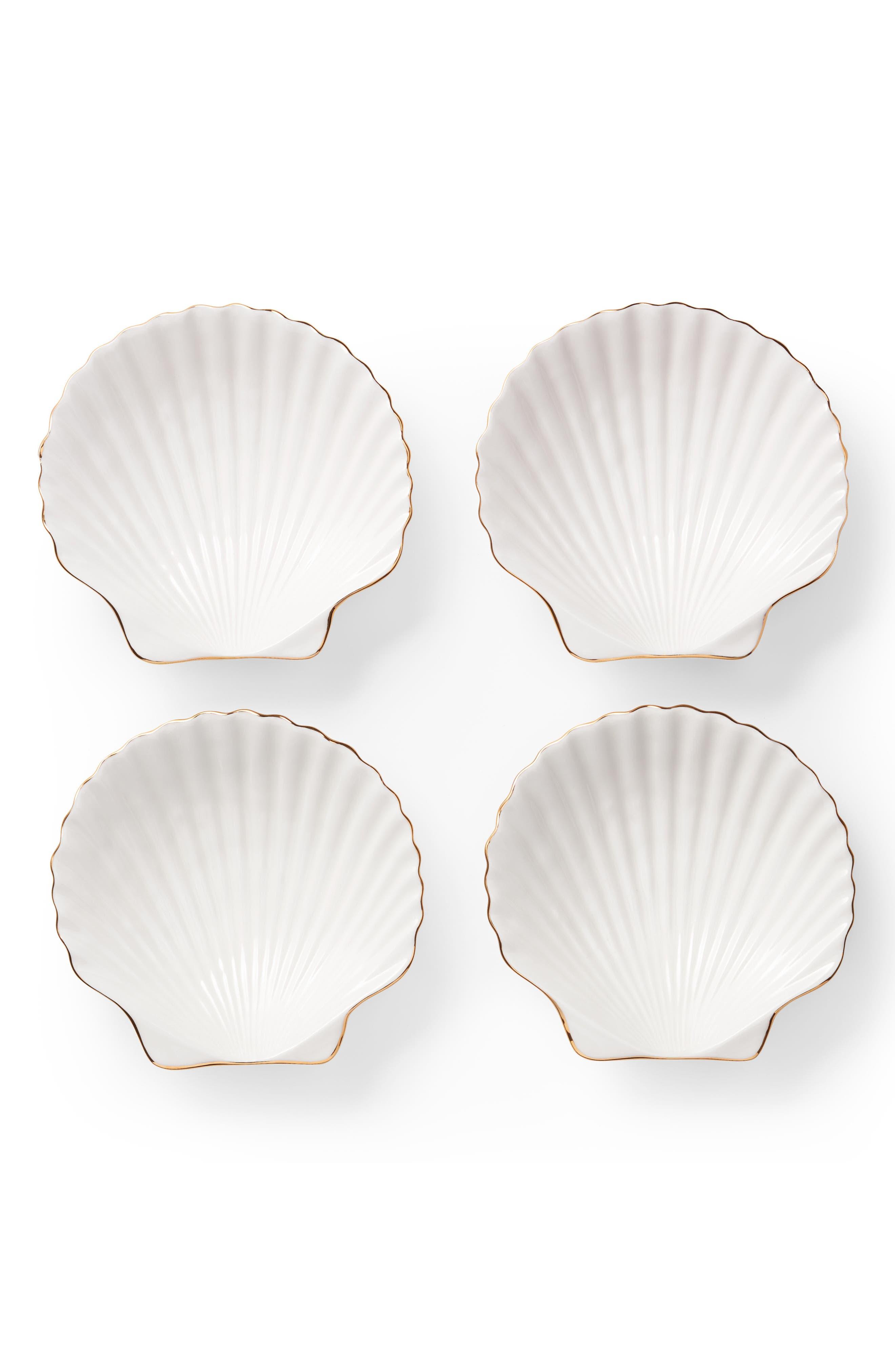 AERIN,                             Set of 4 Shell Appetizer Plates,                             Alternate thumbnail 2, color,                             100