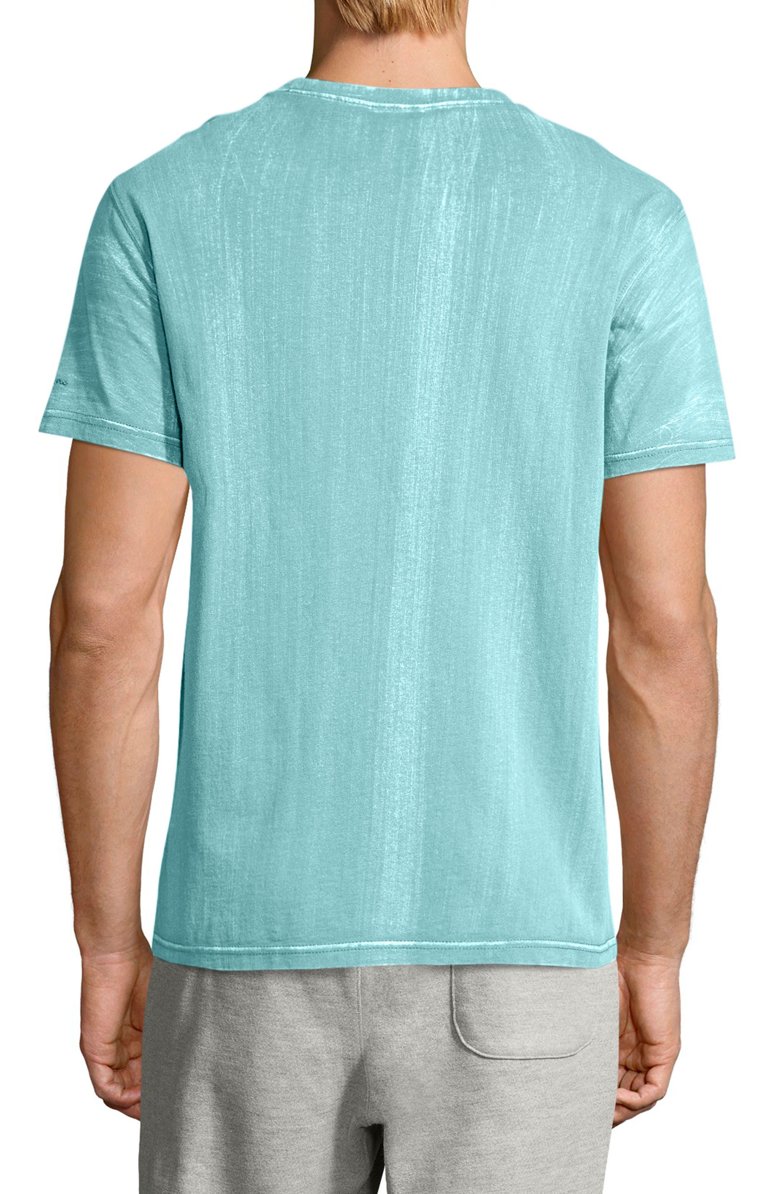 Bleached Wash Crewneck Cotton T-Shirt,                             Alternate thumbnail 6, color,