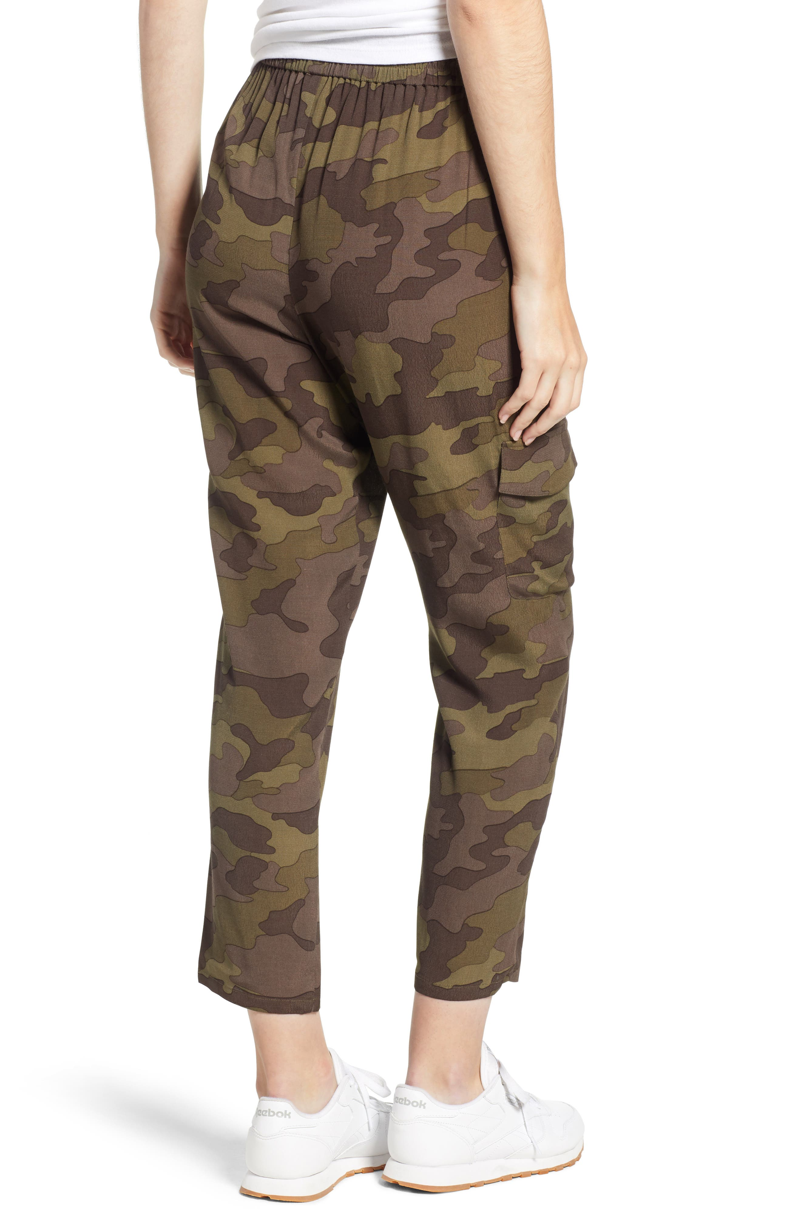 High Rise Camouflage Cargo Pants,                             Alternate thumbnail 3, color,                             210