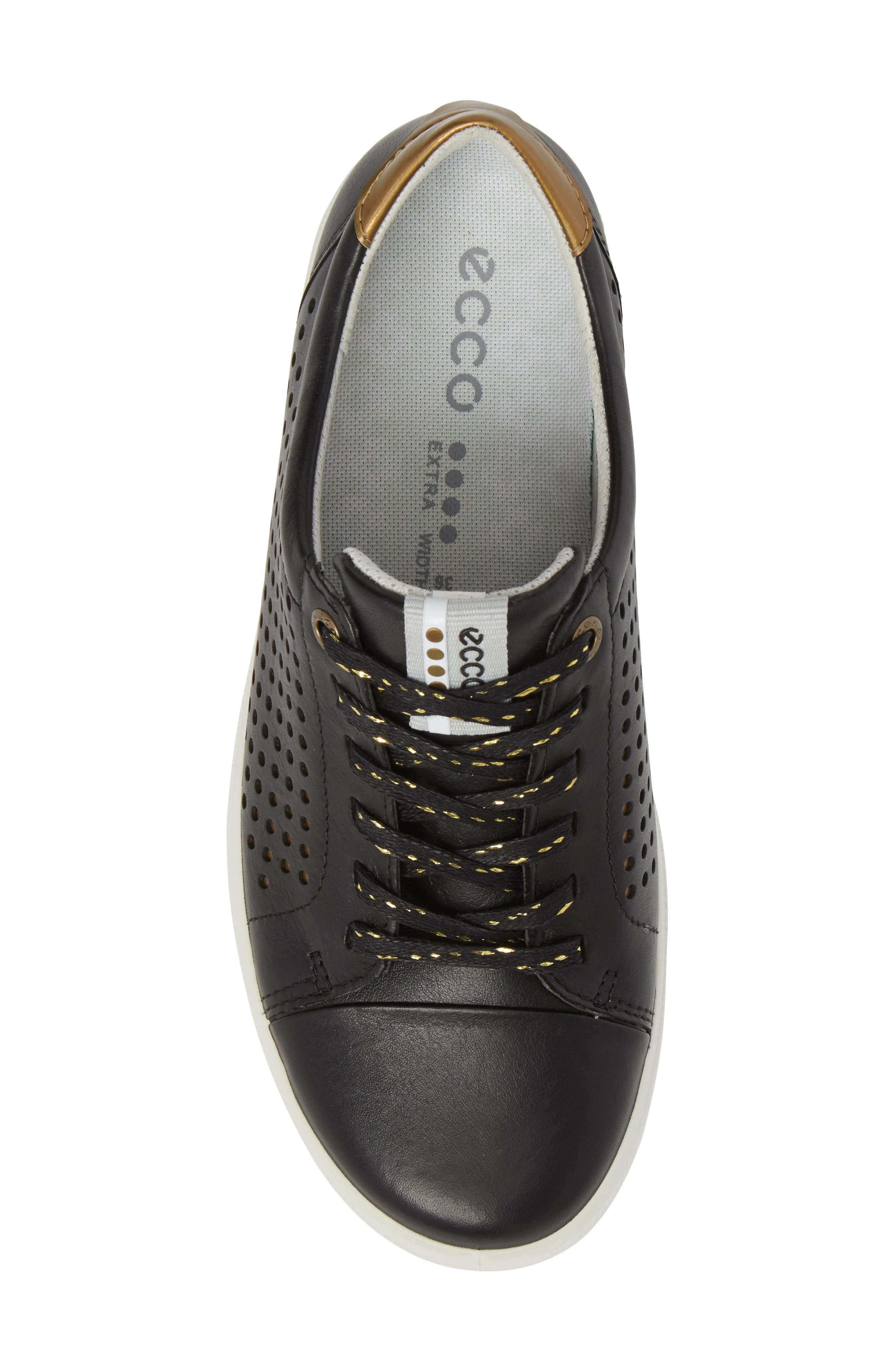 Casual Hybrid Water-Repellent Golf Shoe,                             Alternate thumbnail 5, color,                             BLACK/ BLACK LEATHER
