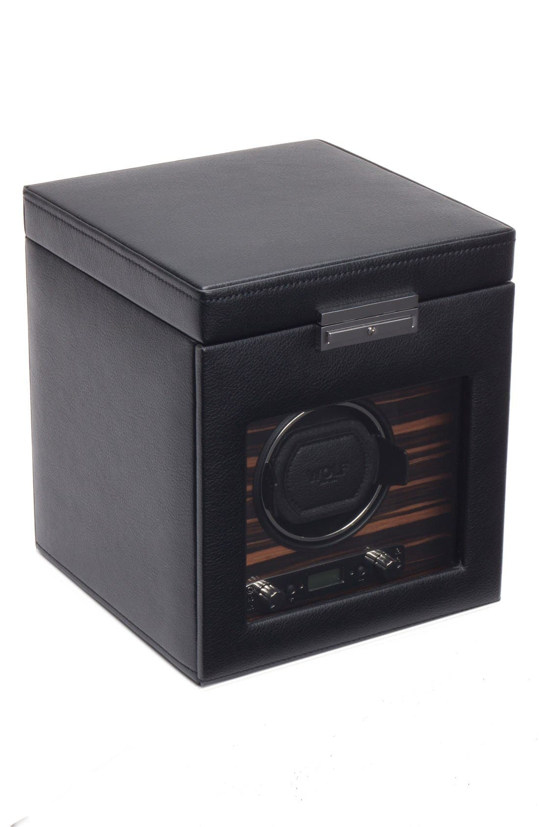 Roadster Watch Winder & Storage Space,                             Main thumbnail 1, color,                             BLACK
