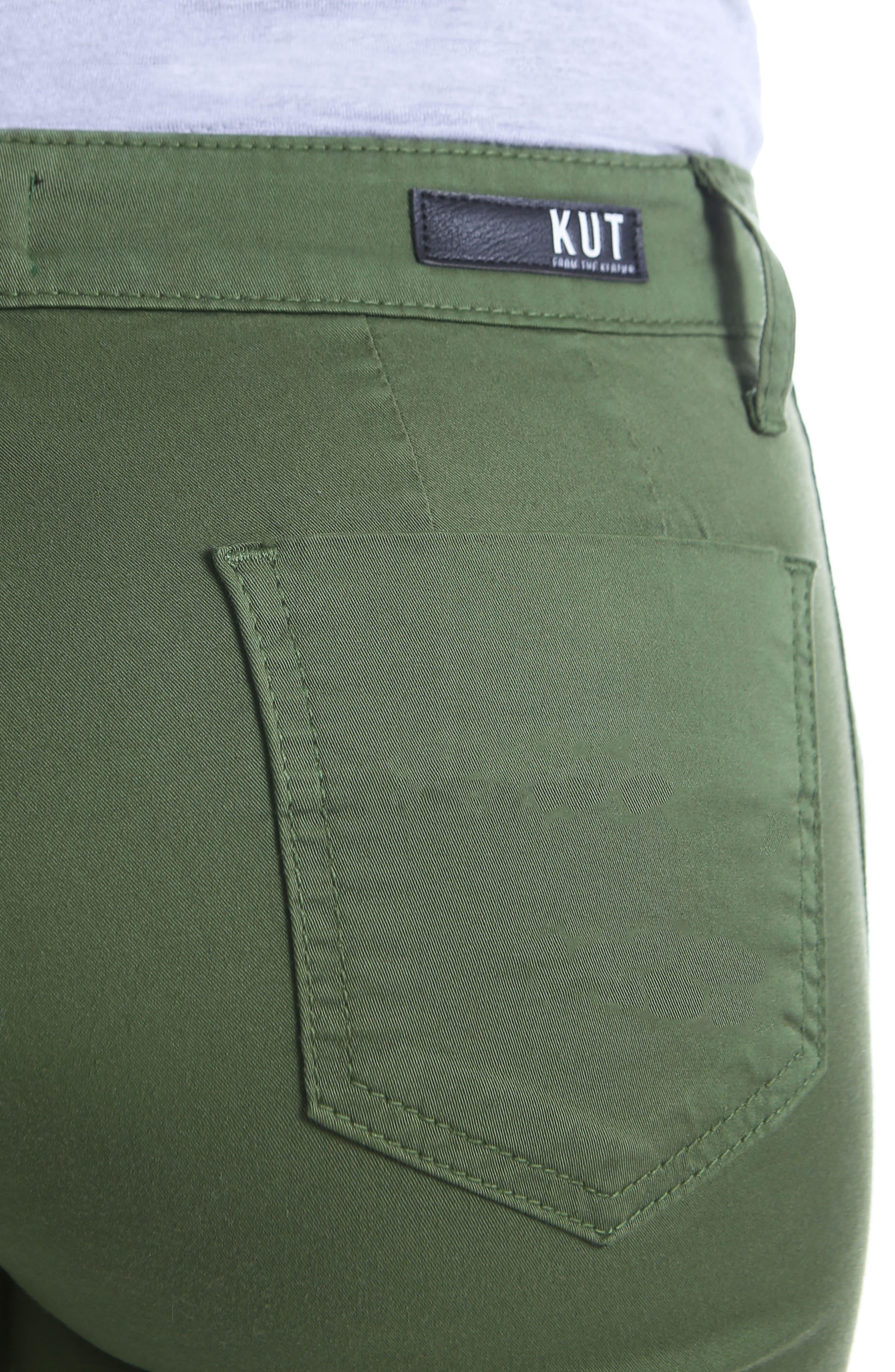 Stretch Cotton Pants,                             Alternate thumbnail 4, color,                             331