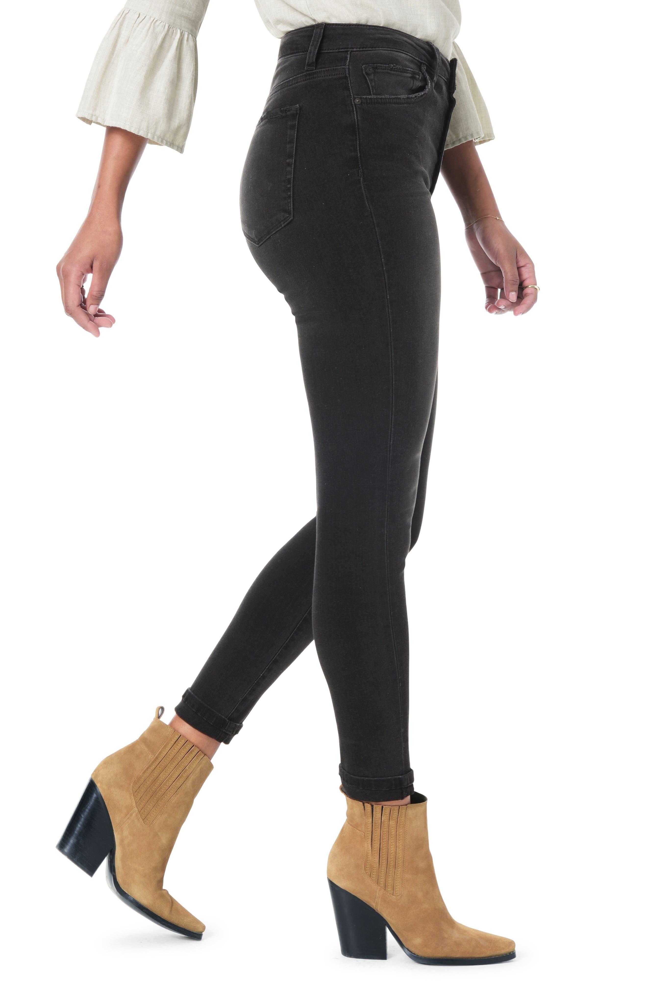 JOE'S,                             Flawless - Honey Curvy High Waist Ankle Skinny Jeans,                             Alternate thumbnail 3, color,                             GABBIE