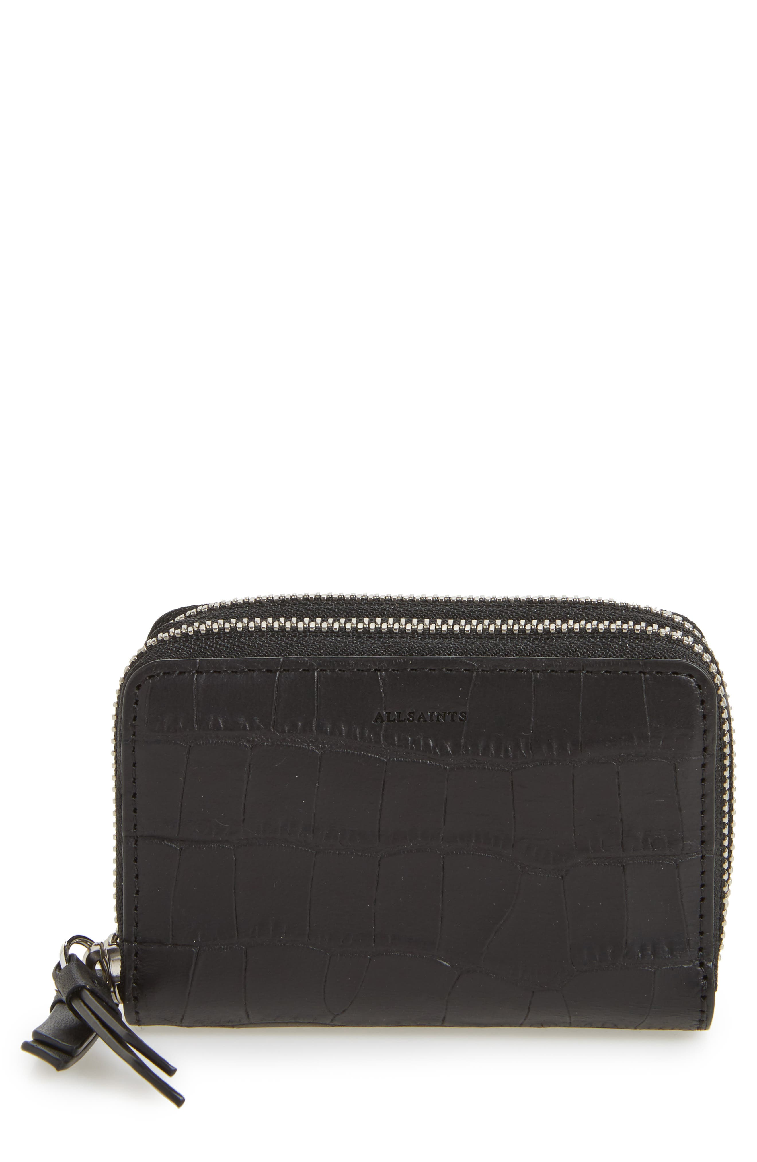 Fetch Leather Card Holder,                             Main thumbnail 1, color,                             001