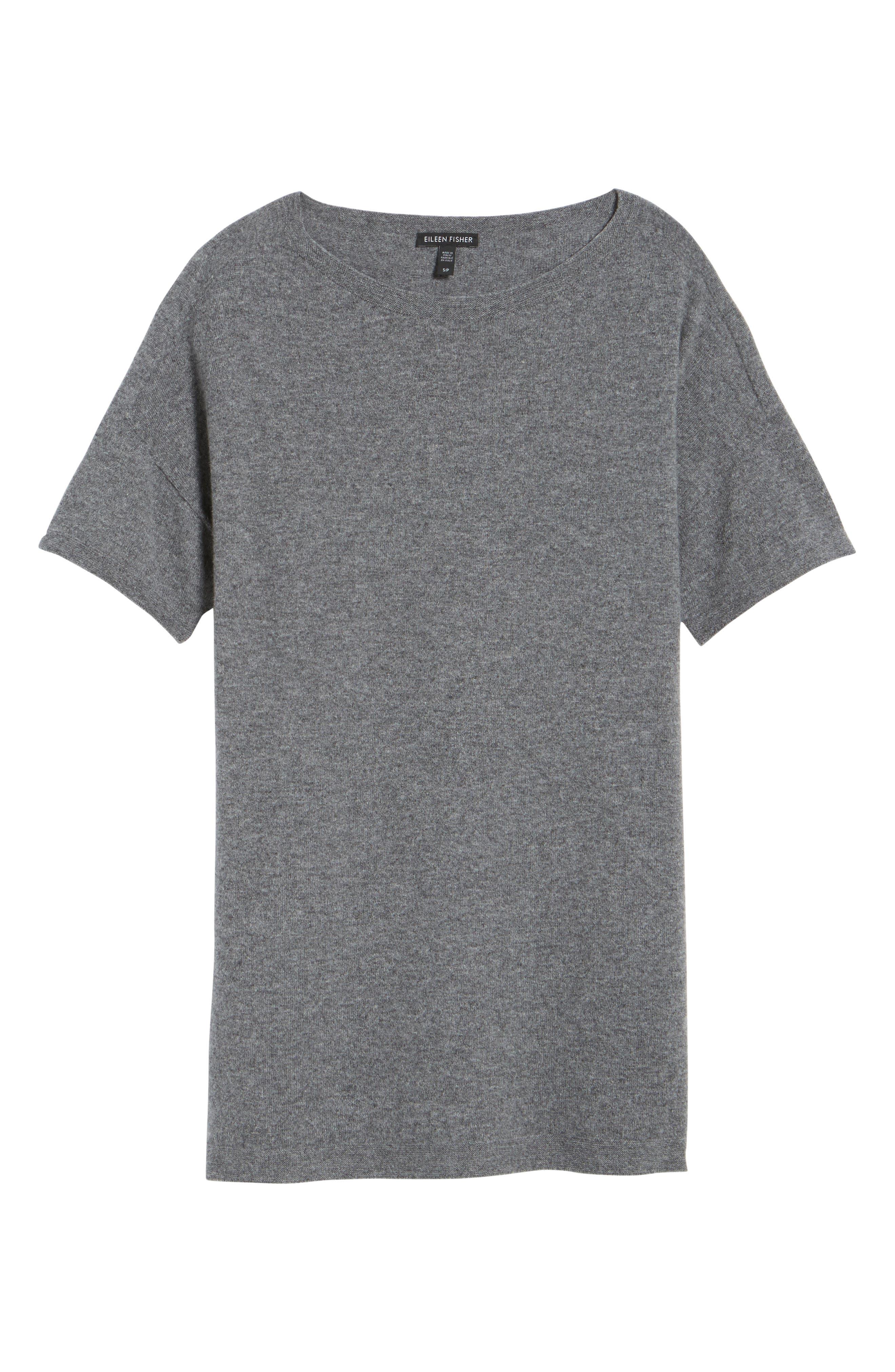 Cashmere Tunic Sweater,                             Alternate thumbnail 6, color,                             030