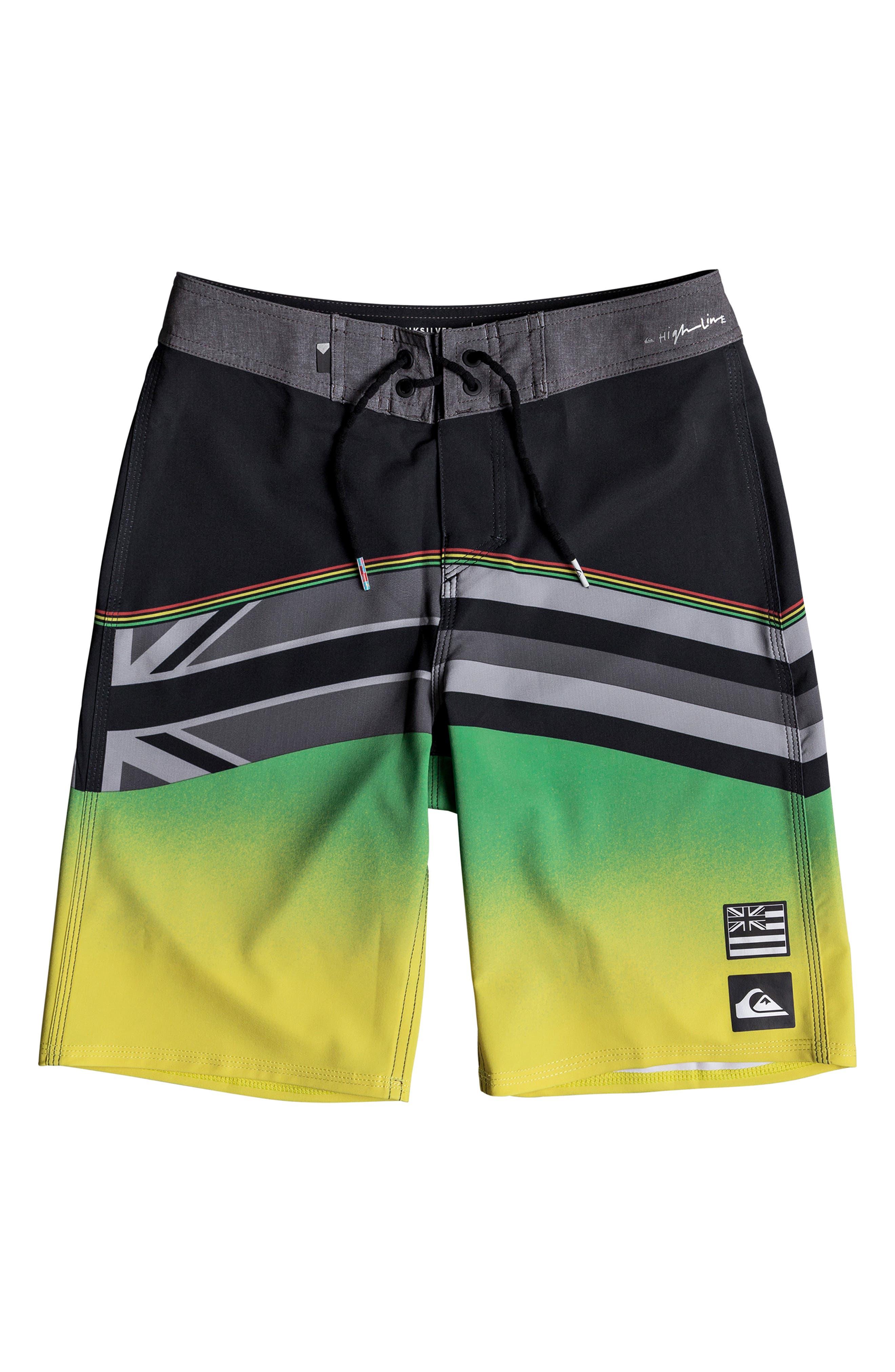 Highline Hawaii Board Shorts,                         Main,                         color, BLACK
