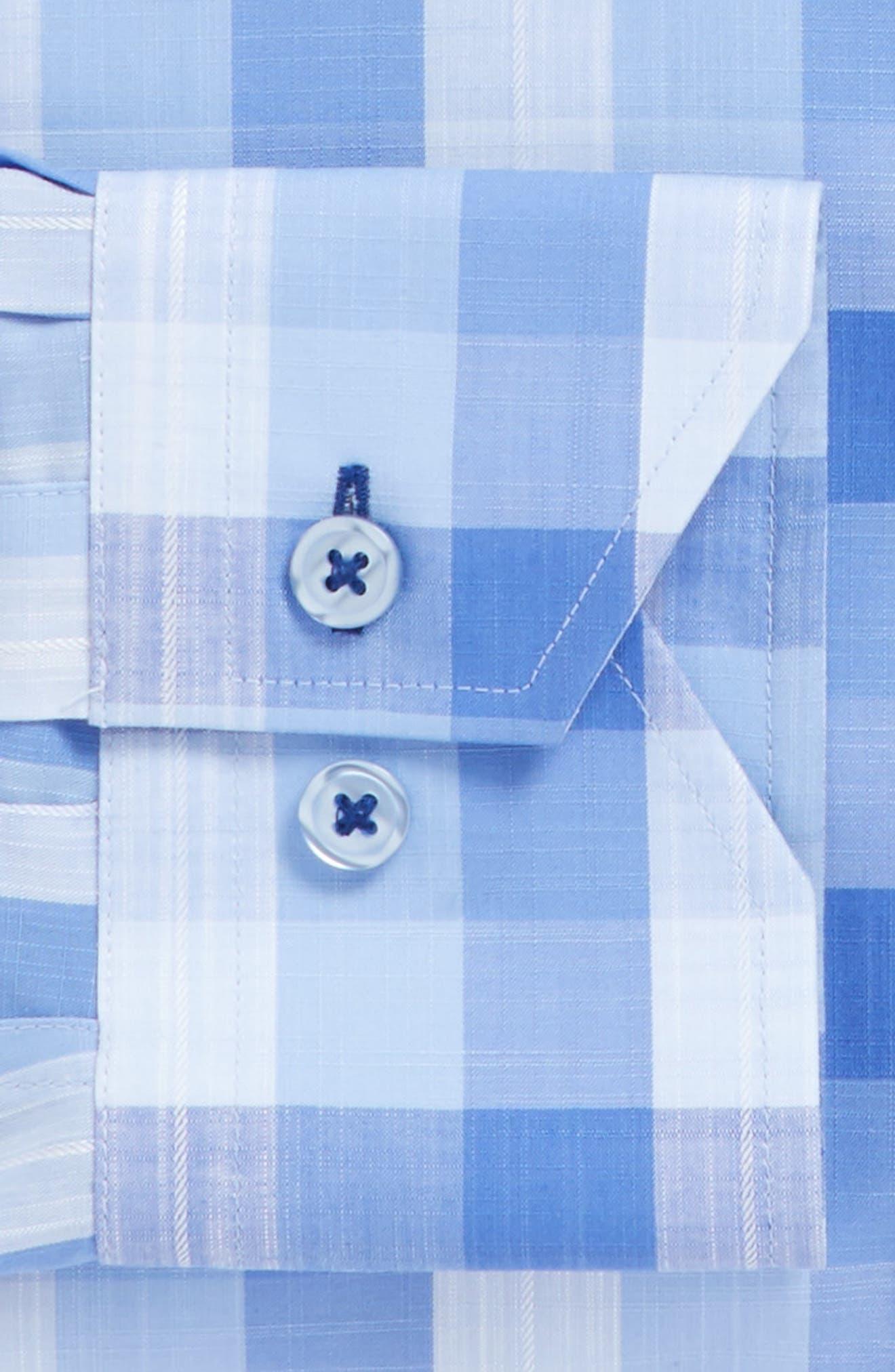 Trim Fit Check Dress Shirt,                             Alternate thumbnail 3, color,                             420