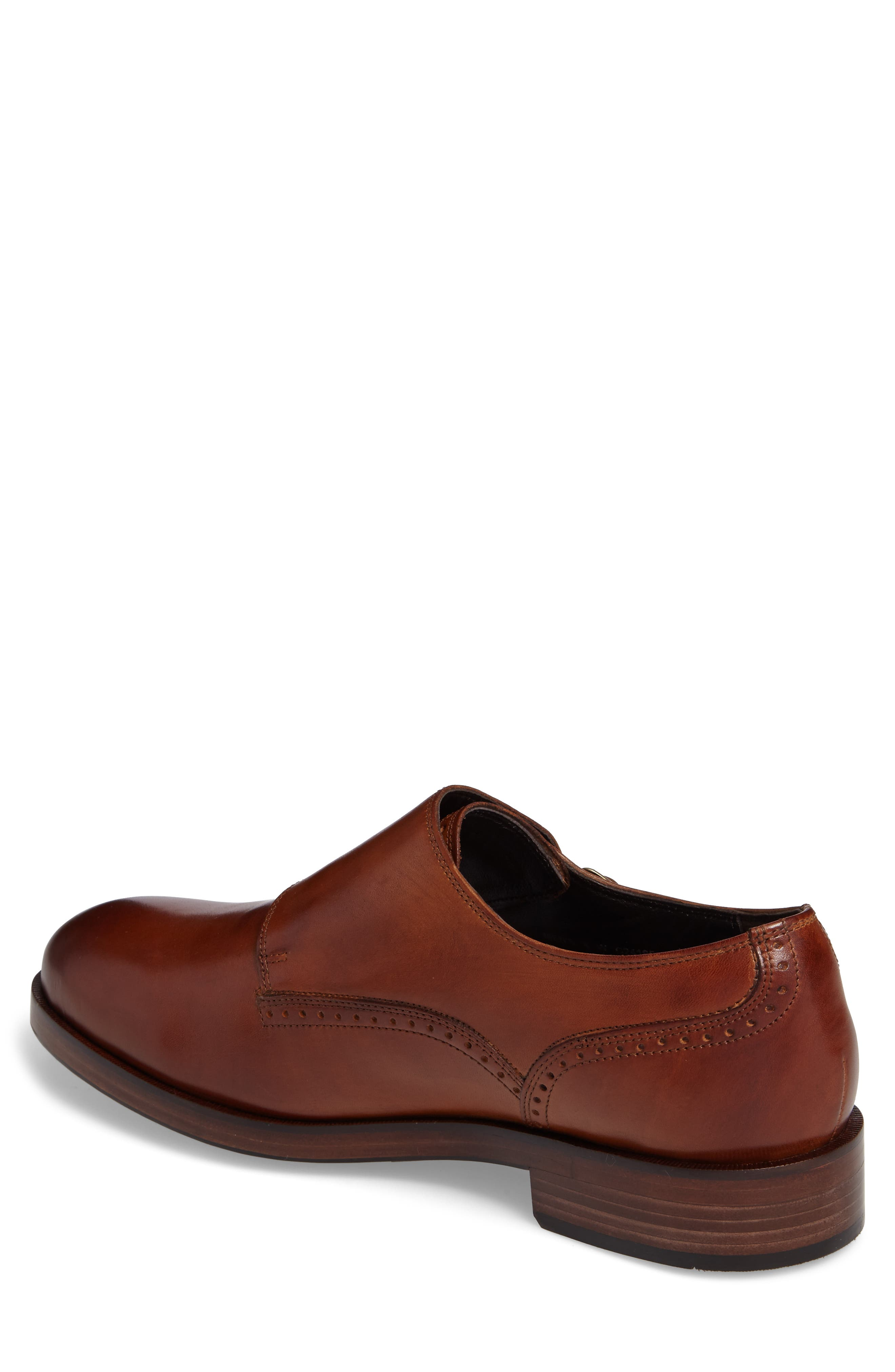 'Harrison' Double Monk Strap Shoe,                             Alternate thumbnail 3, color,                             BRITISH TAN LEATHER
