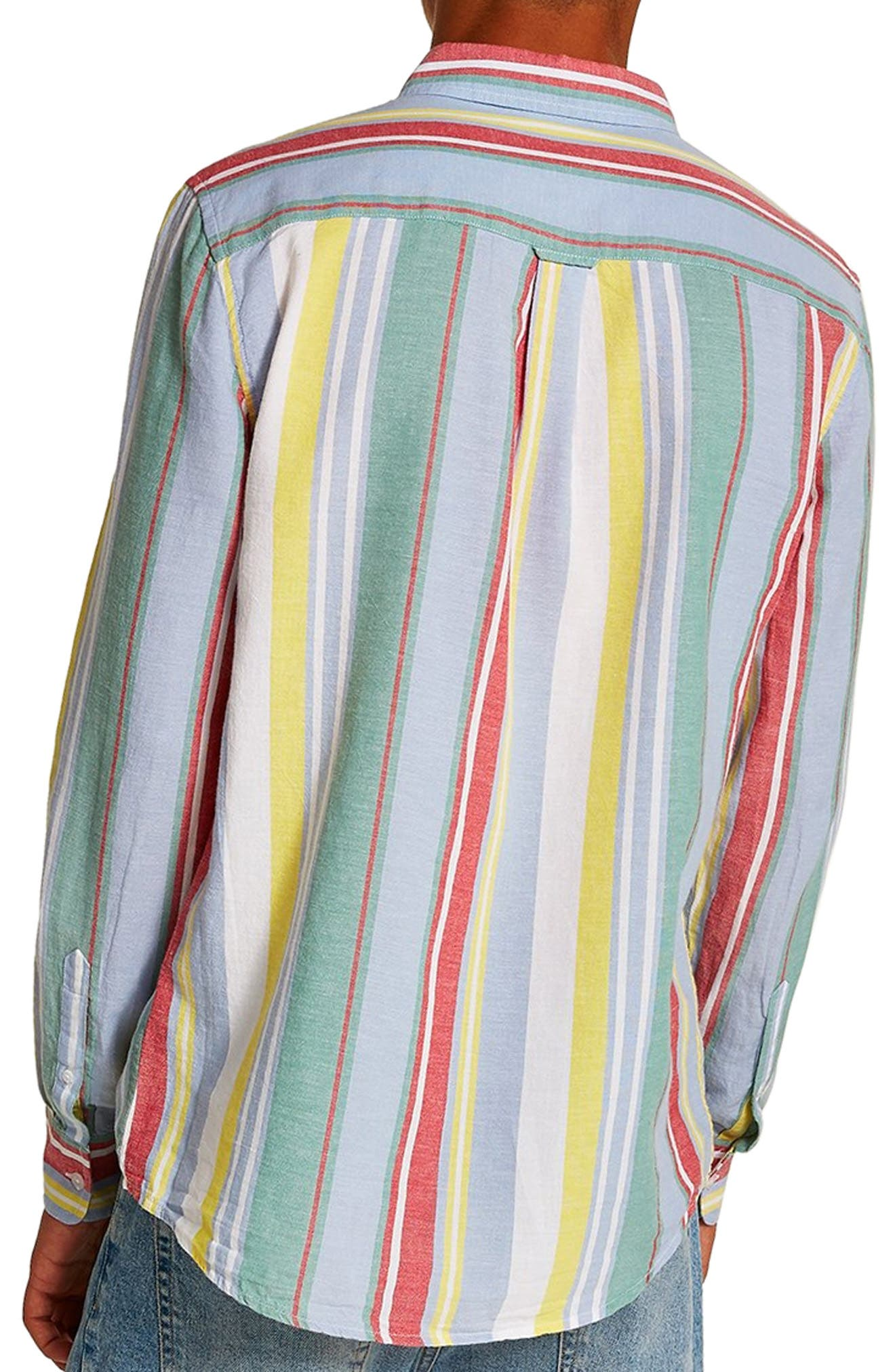 Candy Stripe Shirt,                             Alternate thumbnail 2, color,                             100