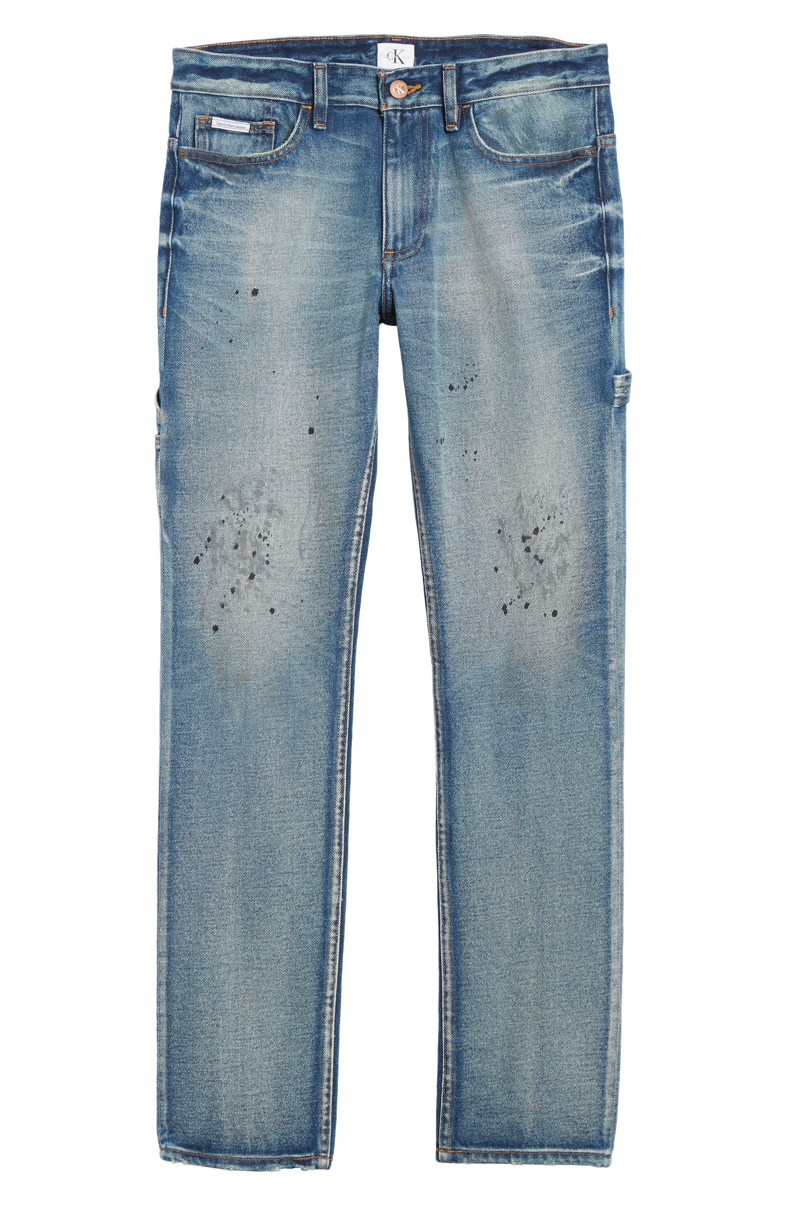 Carpenter Slim Fit Jeans,                             Alternate thumbnail 6, color,                             492