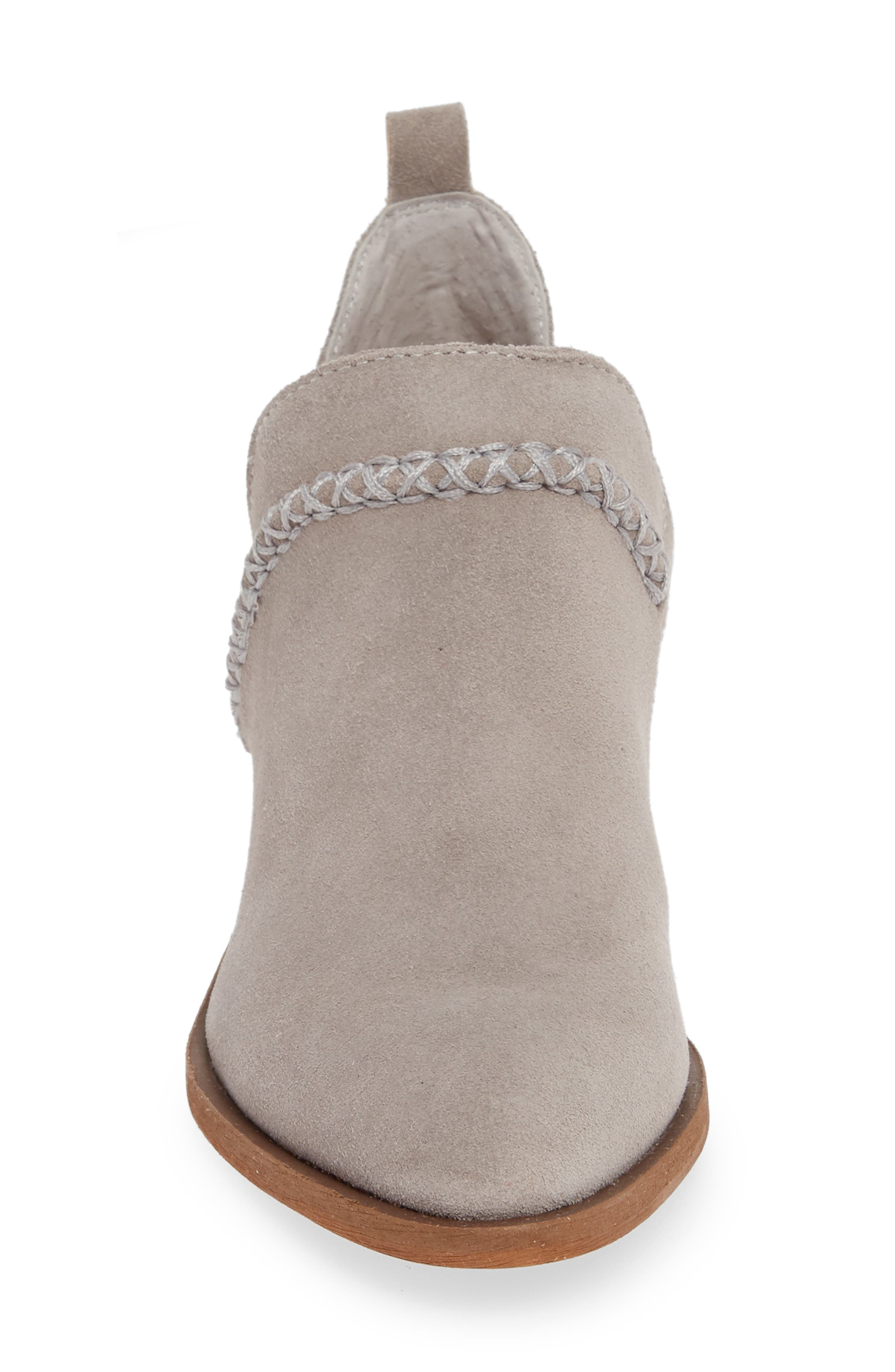 SOLE SOCIETY,                             Nikkie Bootie,                             Alternate thumbnail 4, color,                             SOFT GREY SUEDE