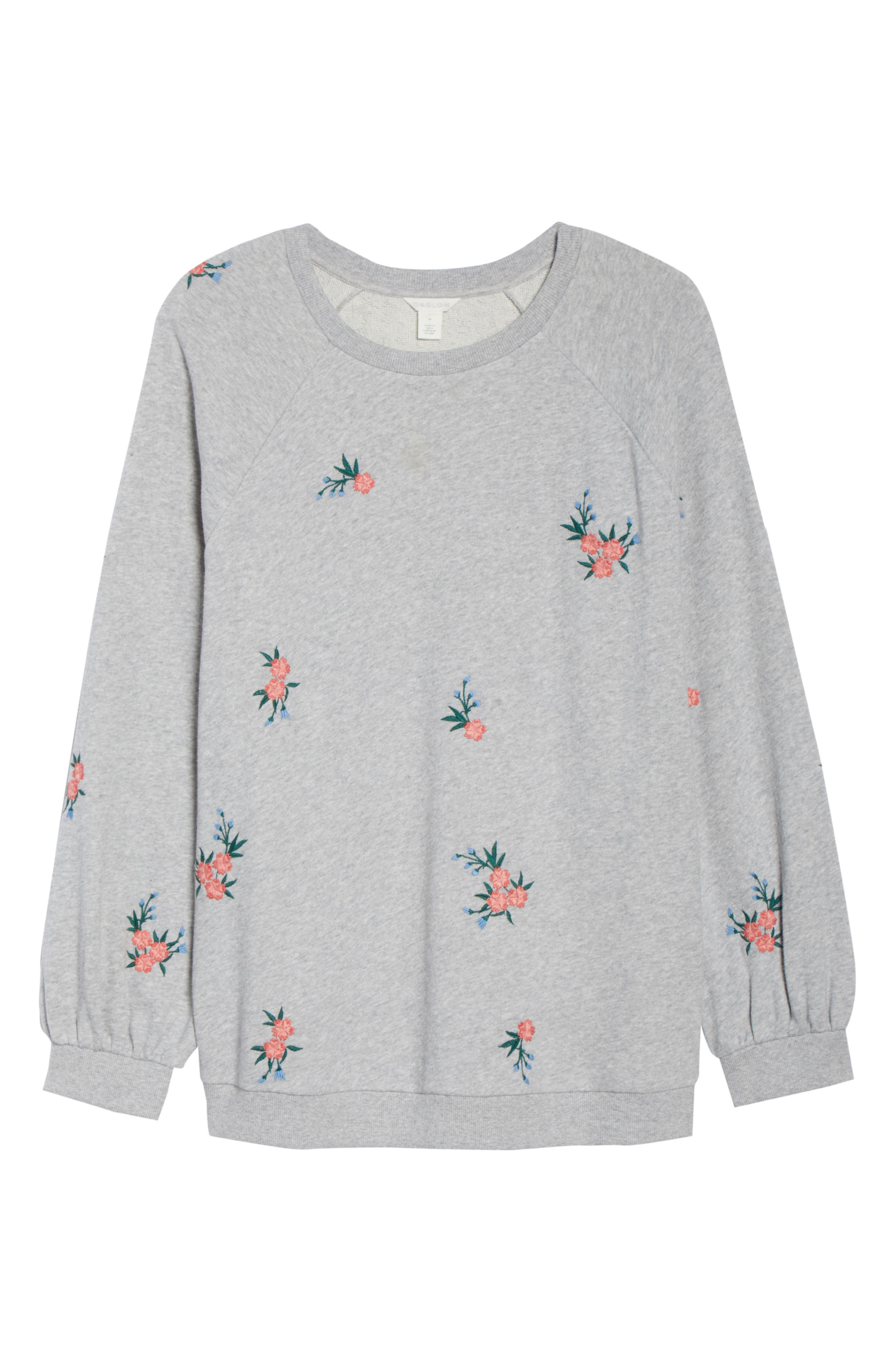 Embroidered Cotton Sweatshirt,                             Alternate thumbnail 6, color,                             030